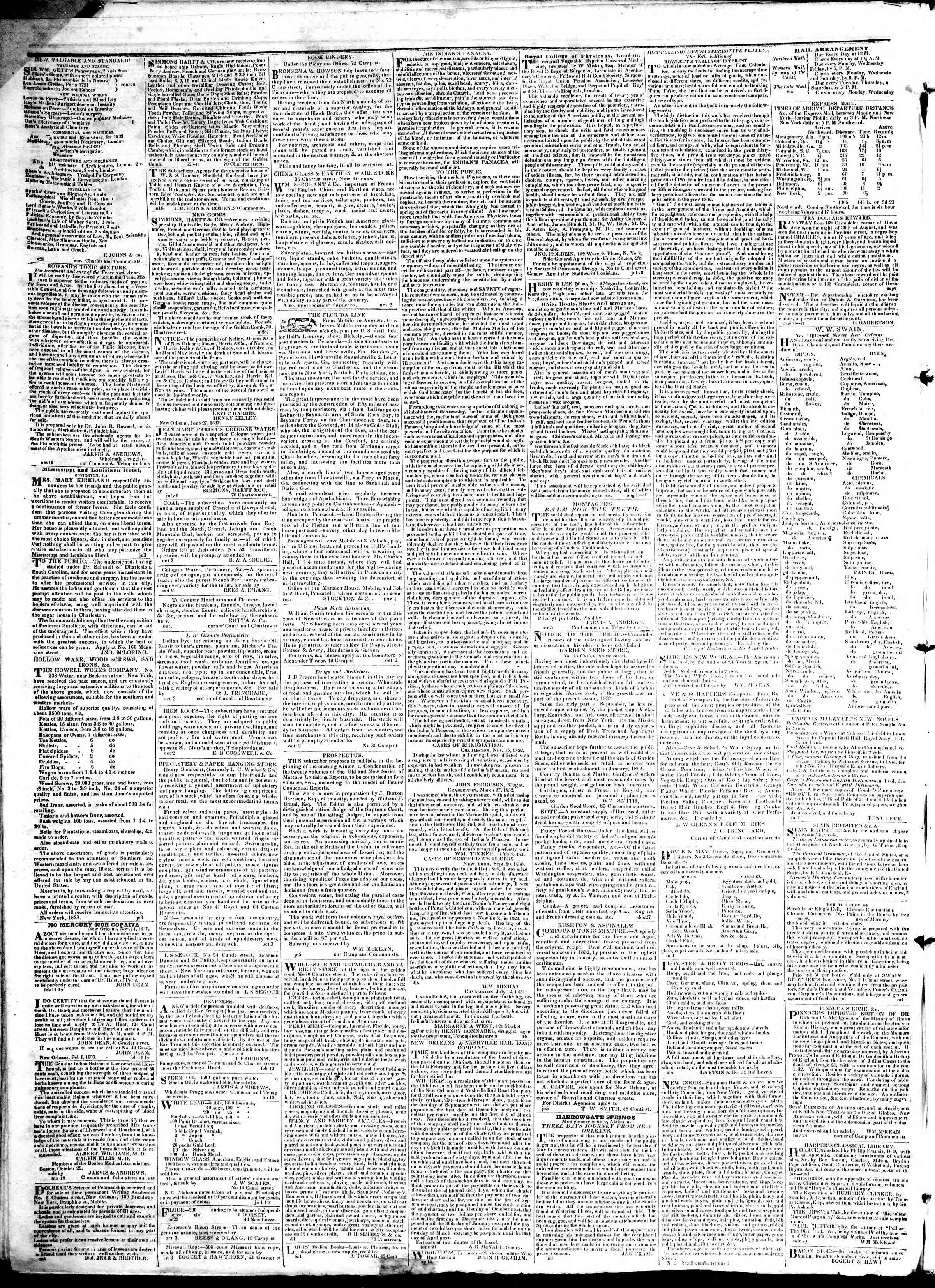 Newspaper of True American dated February 25, 1839 Page 4