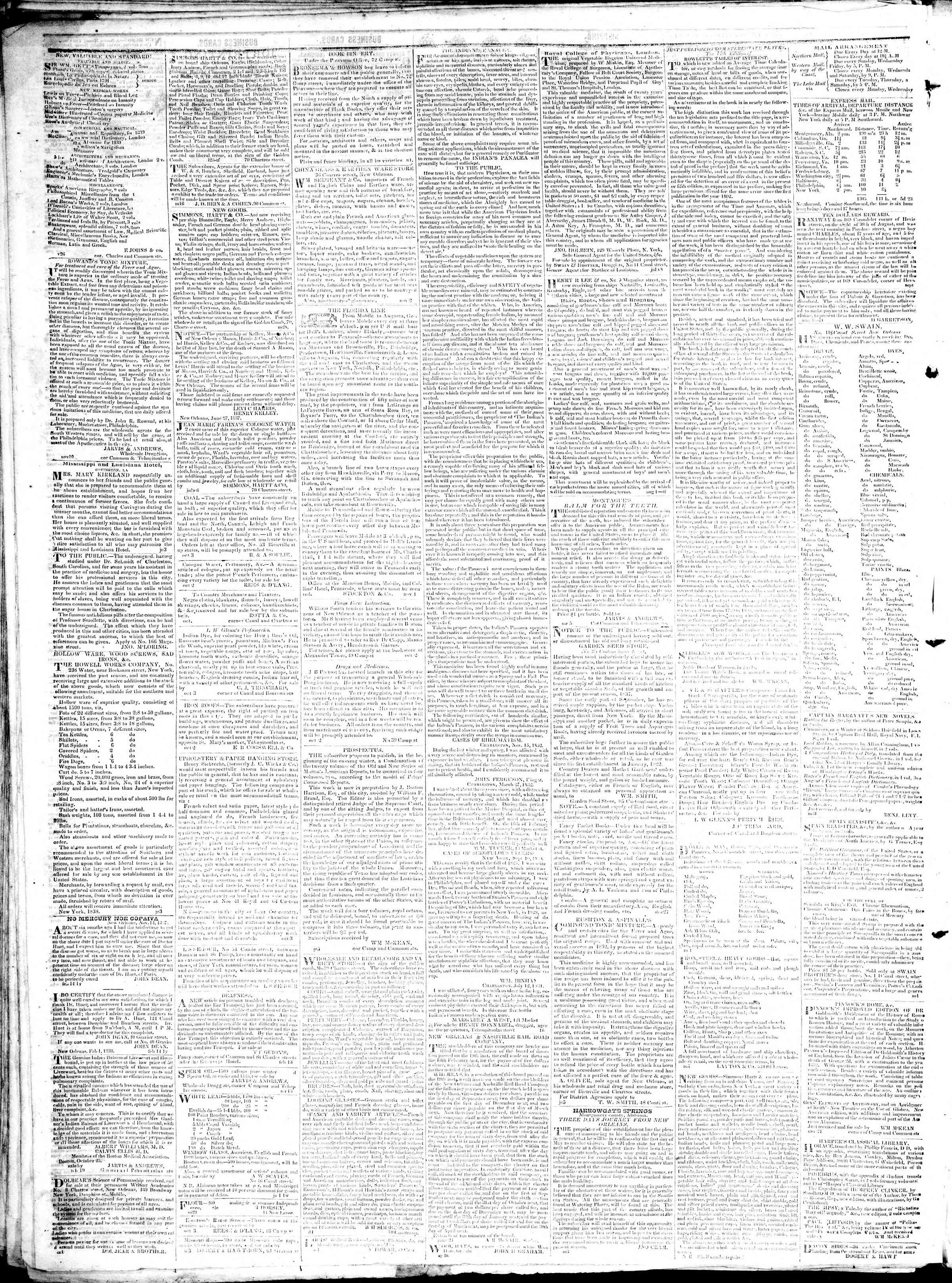 Newspaper of True American dated February 26, 1839 Page 4