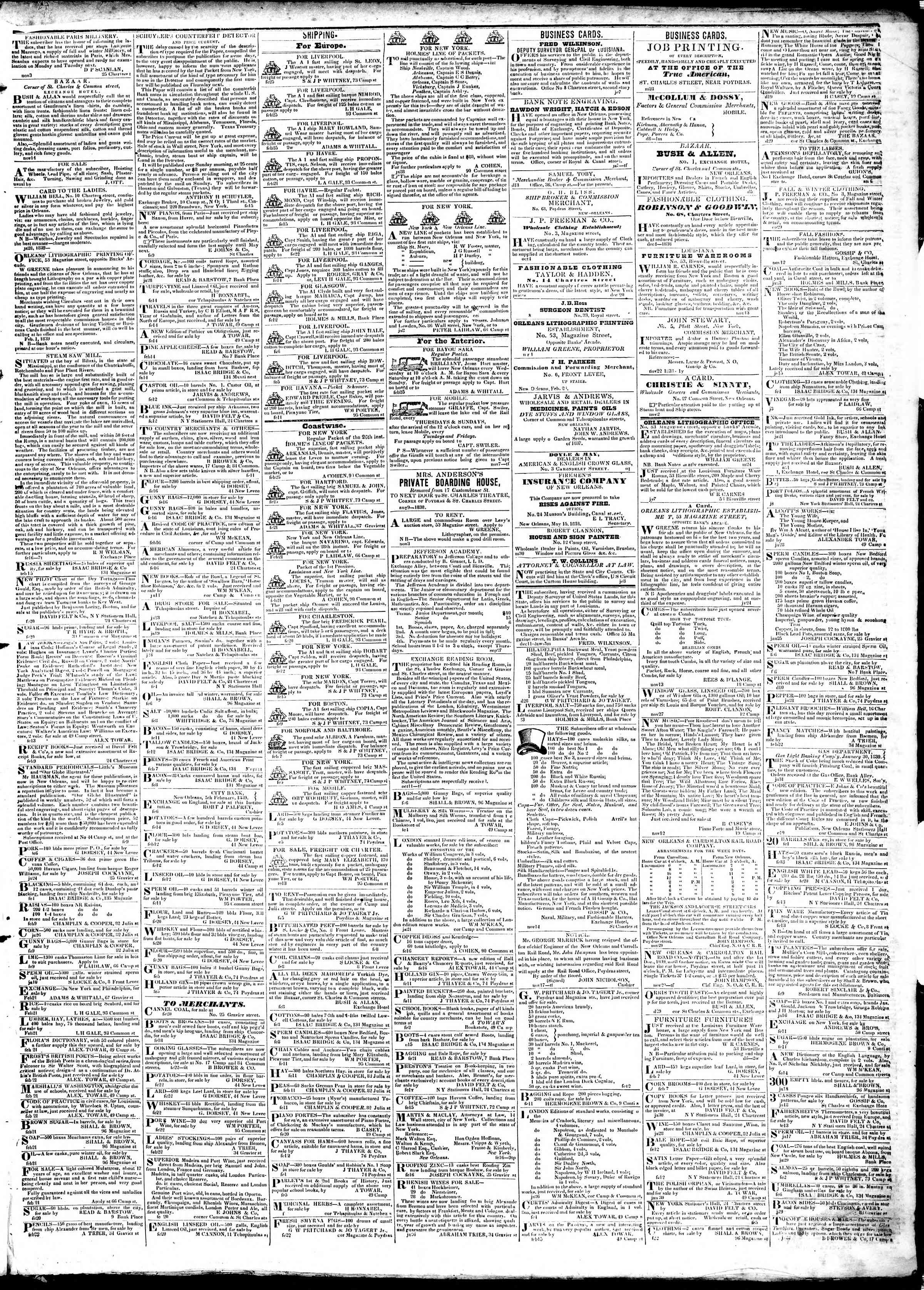 Newspaper of True American dated February 27, 1839 Page 3