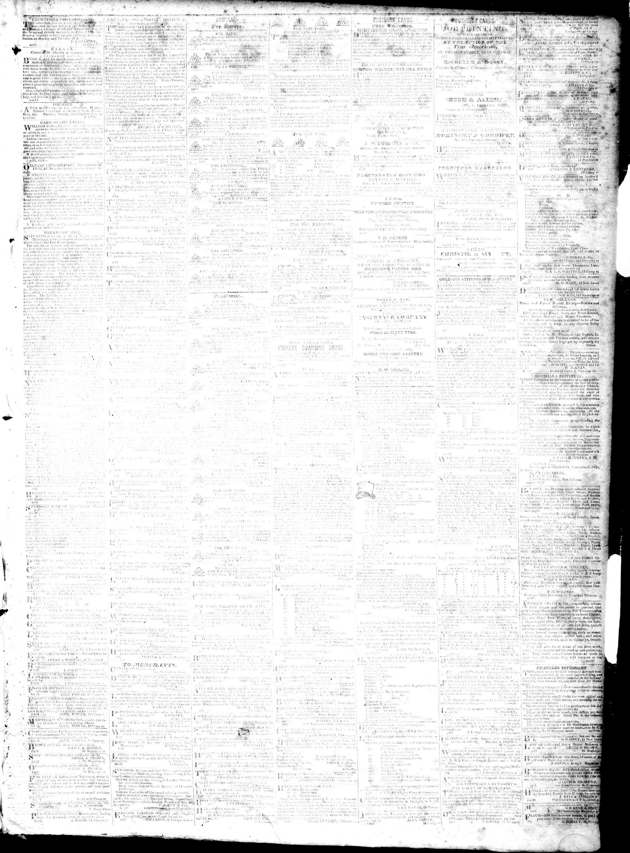 February 28, 1839 Tarihli True American Gazetesi Sayfa 3