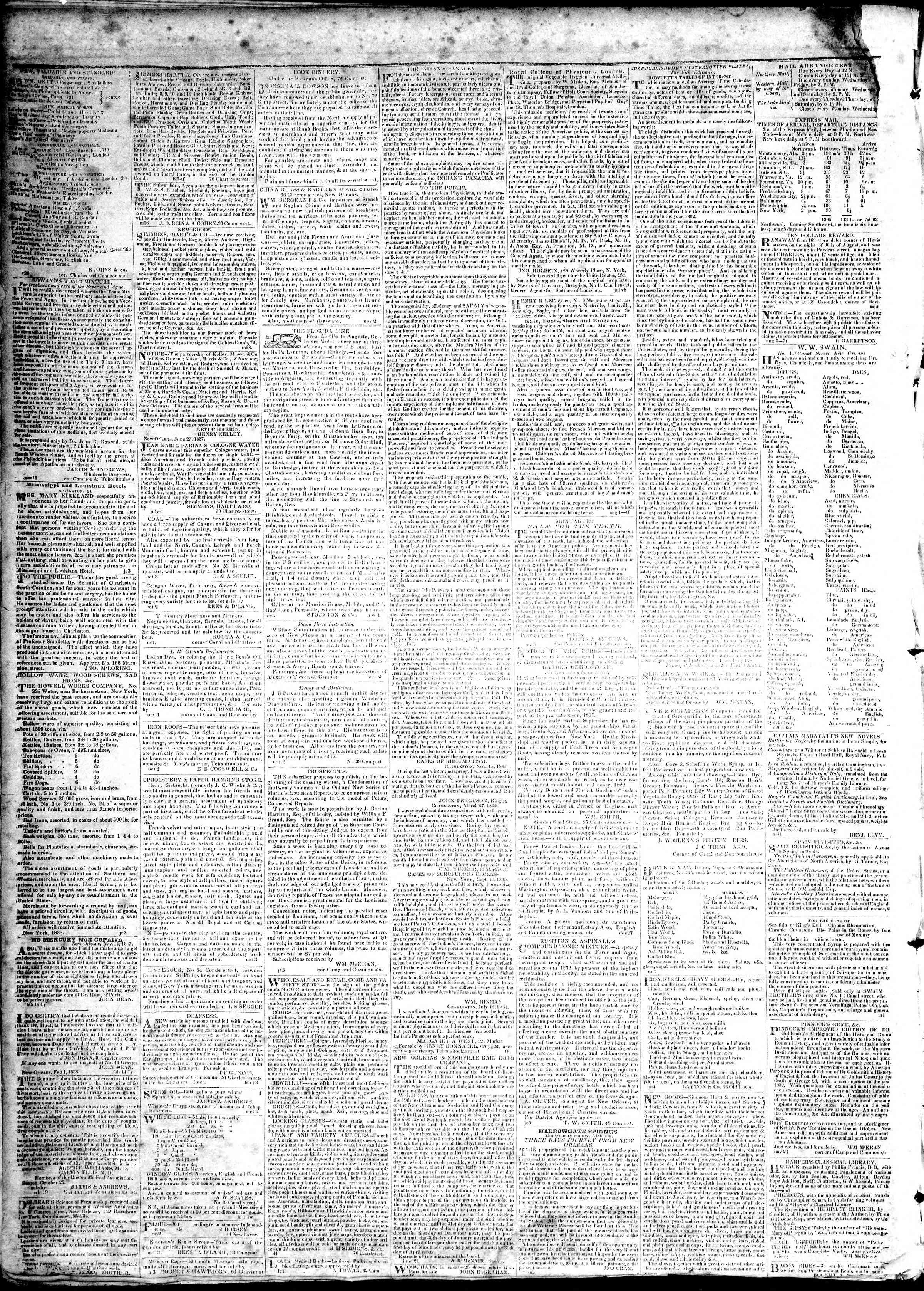 March 1, 1839 Tarihli True American Gazetesi Sayfa 4