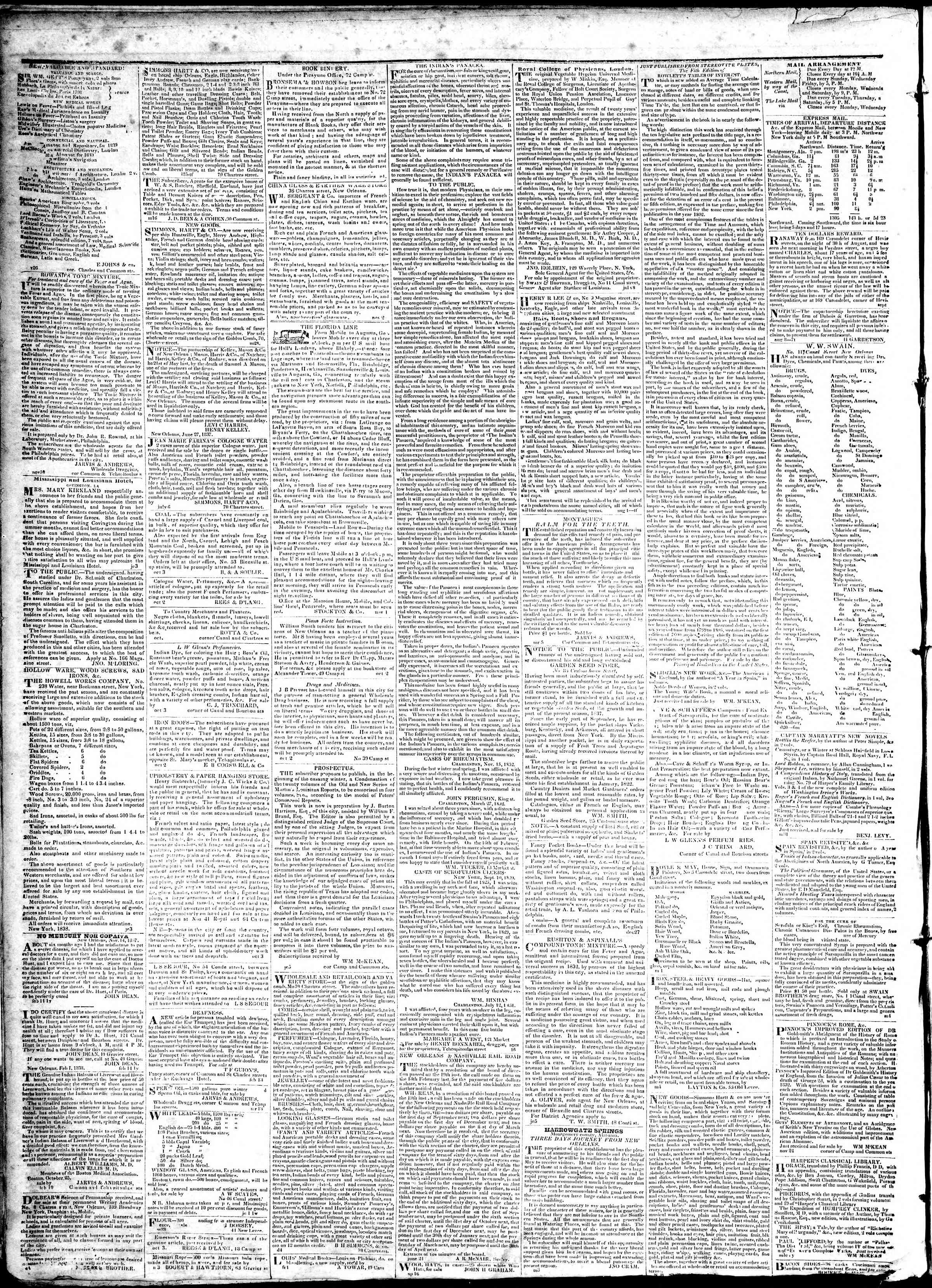 Newspaper of True American dated March 2, 1839 Page 4