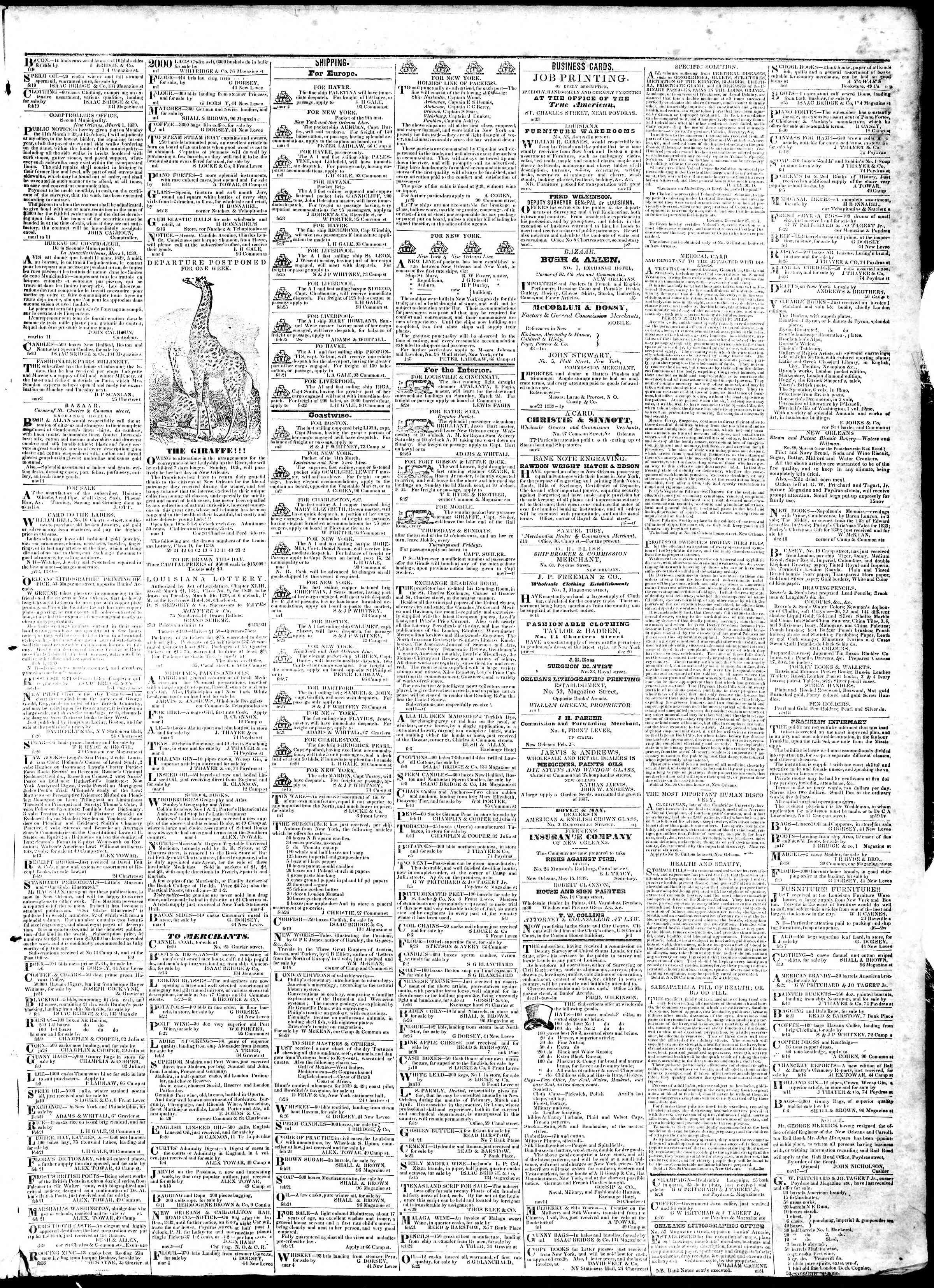 March 5, 1839 Tarihli True American Gazetesi Sayfa 3