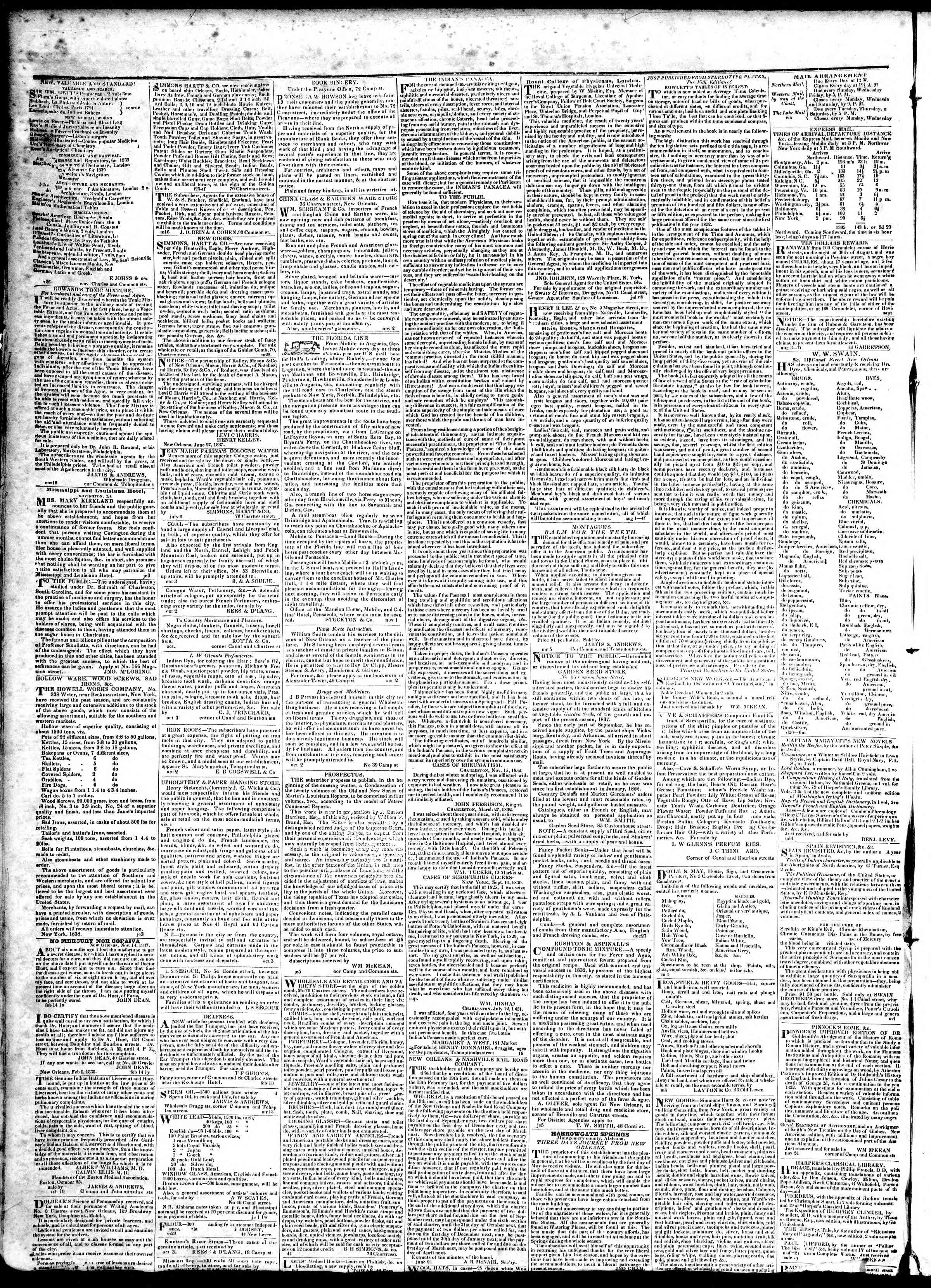 Newspaper of True American dated March 5, 1839 Page 4