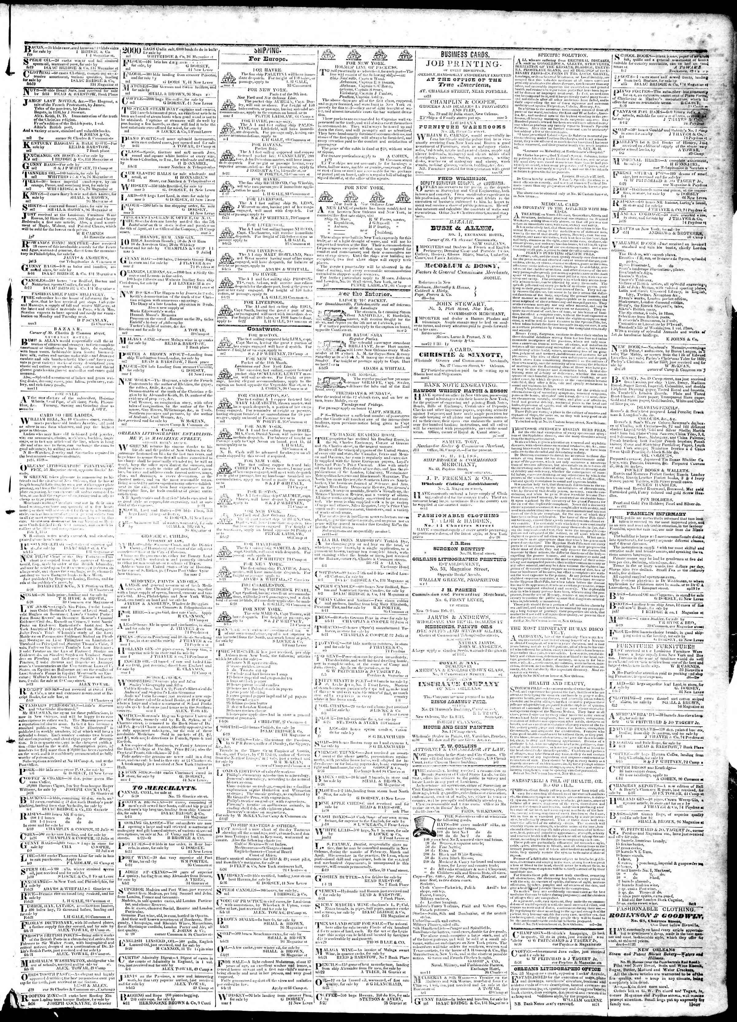Newspaper of True American dated March 6, 1839 Page 3