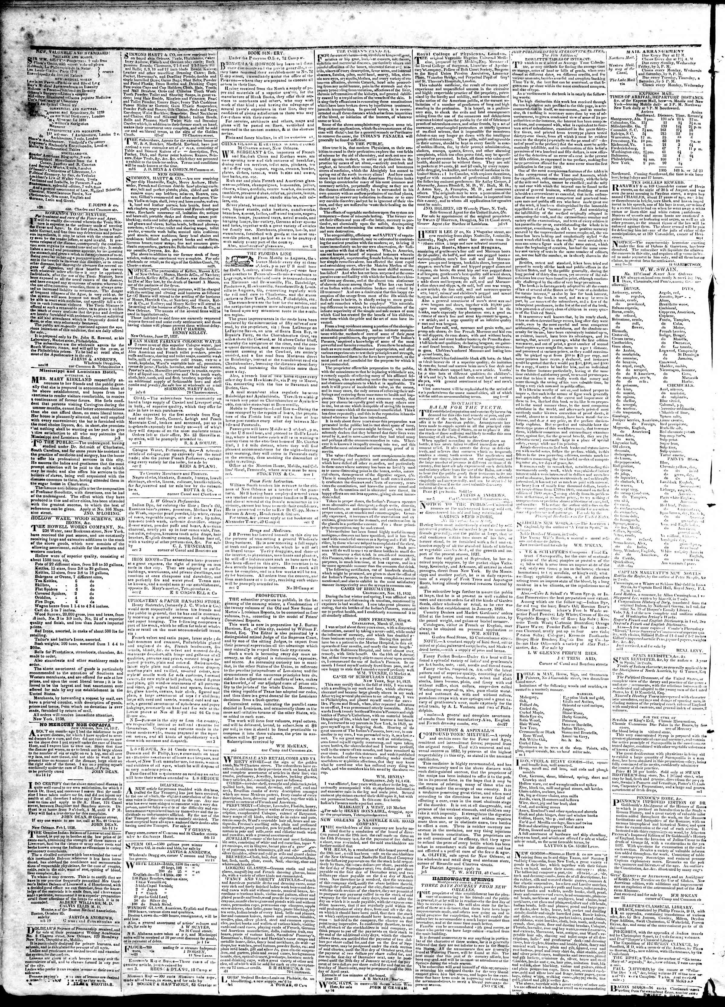 March 6, 1839 Tarihli True American Gazetesi Sayfa 4