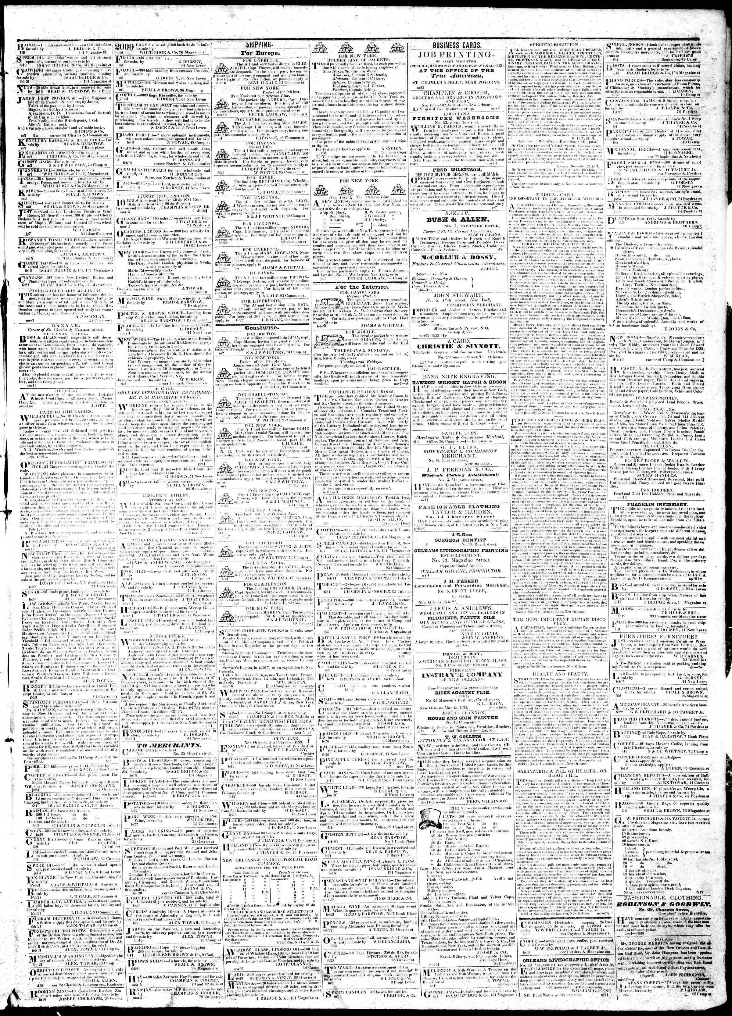 March 7, 1839 Tarihli True American Gazetesi Sayfa 3