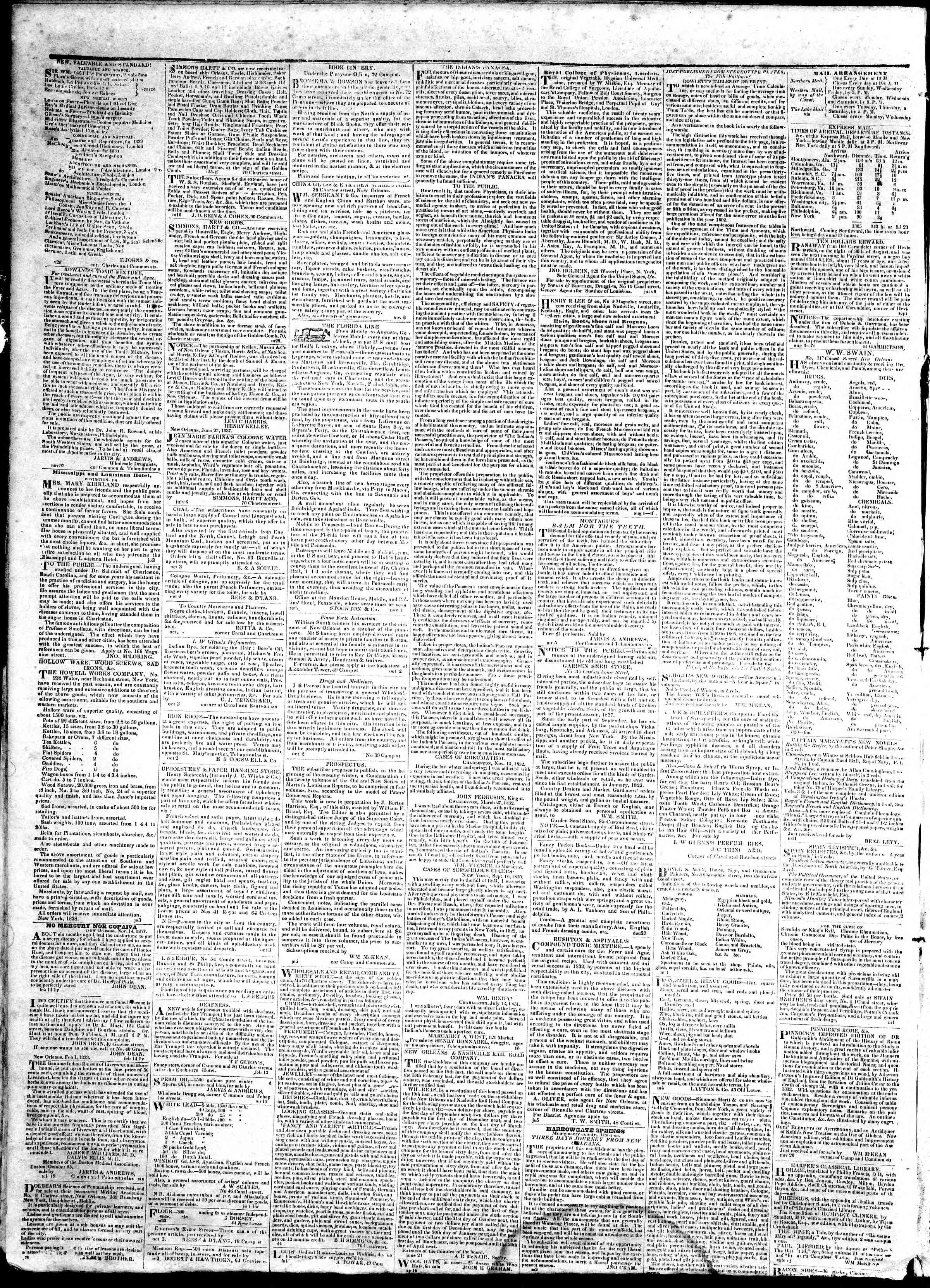 March 7, 1839 Tarihli True American Gazetesi Sayfa 4