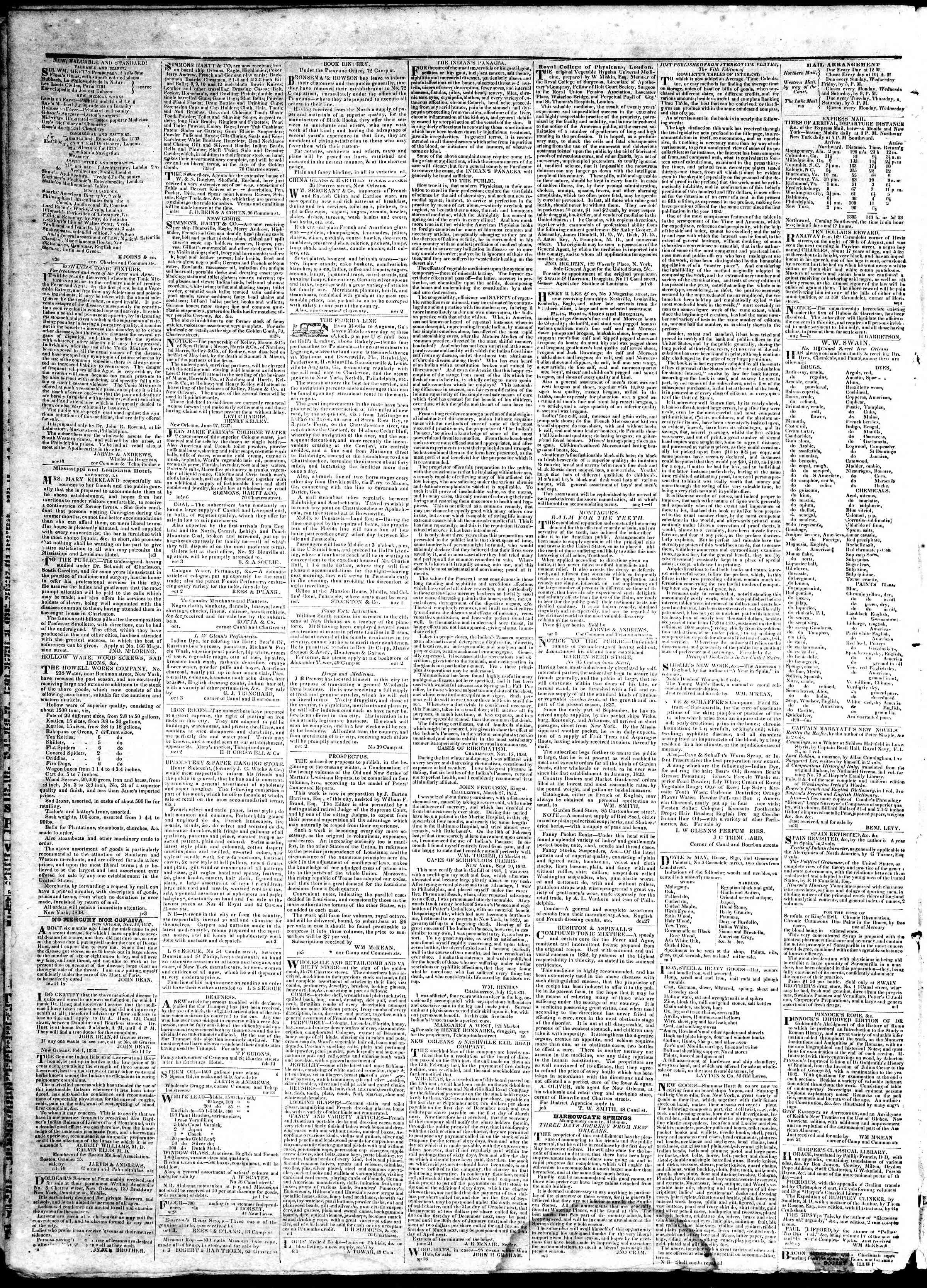 March 9, 1839 Tarihli True American Gazetesi Sayfa 4
