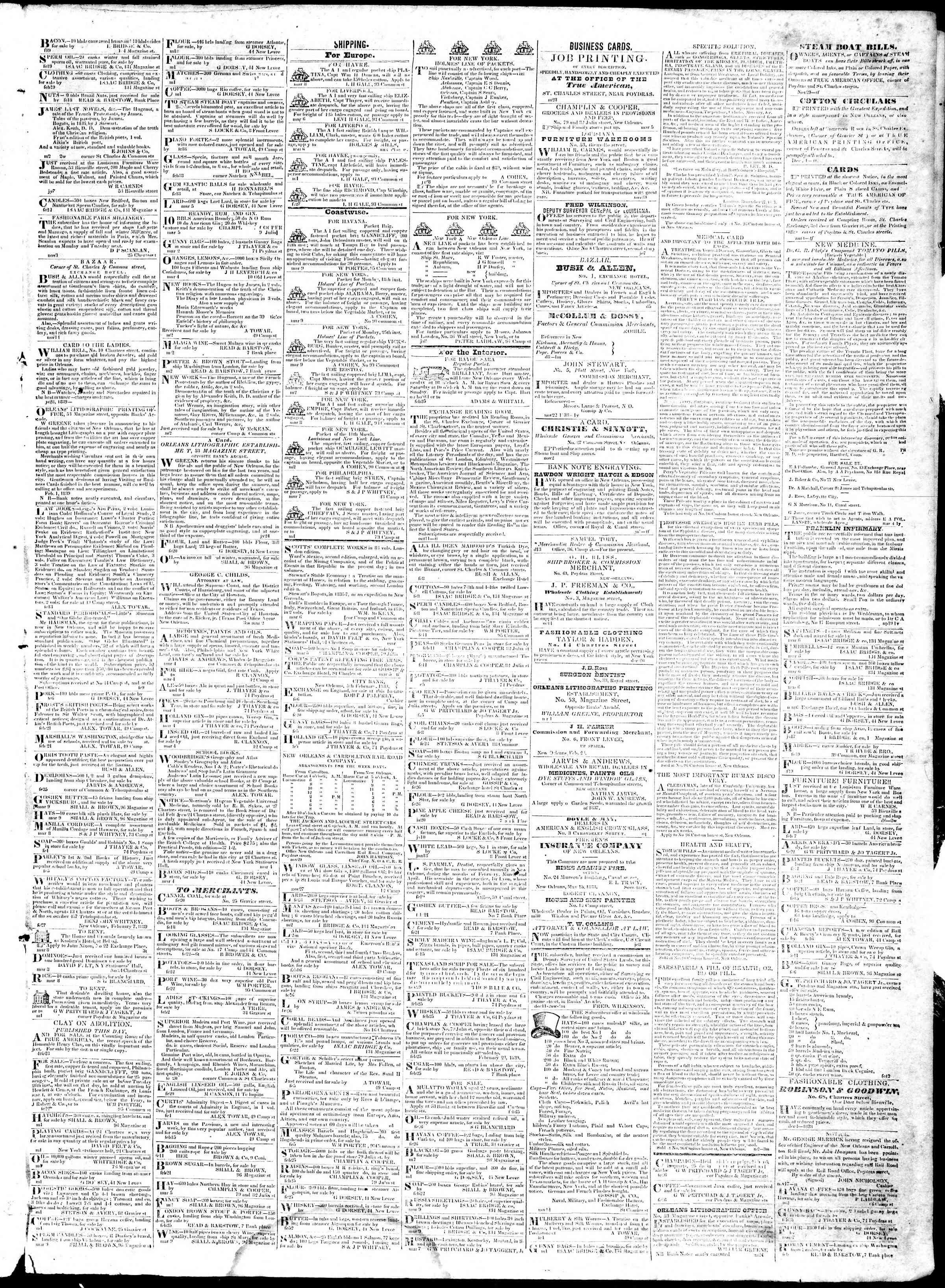 March 11, 1839 Tarihli True American Gazetesi Sayfa 3