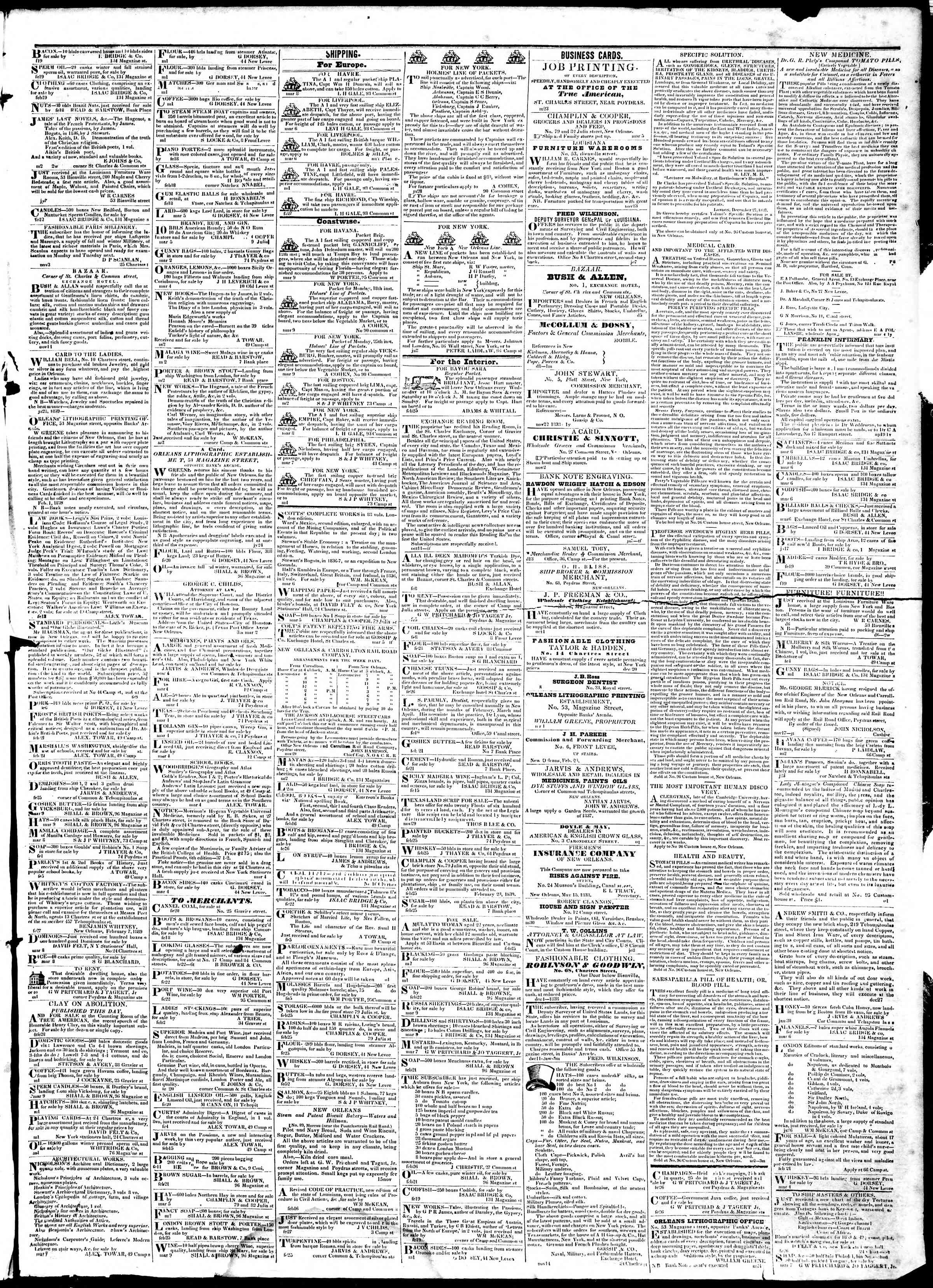 Newspaper of True American dated March 12, 1839 Page 3