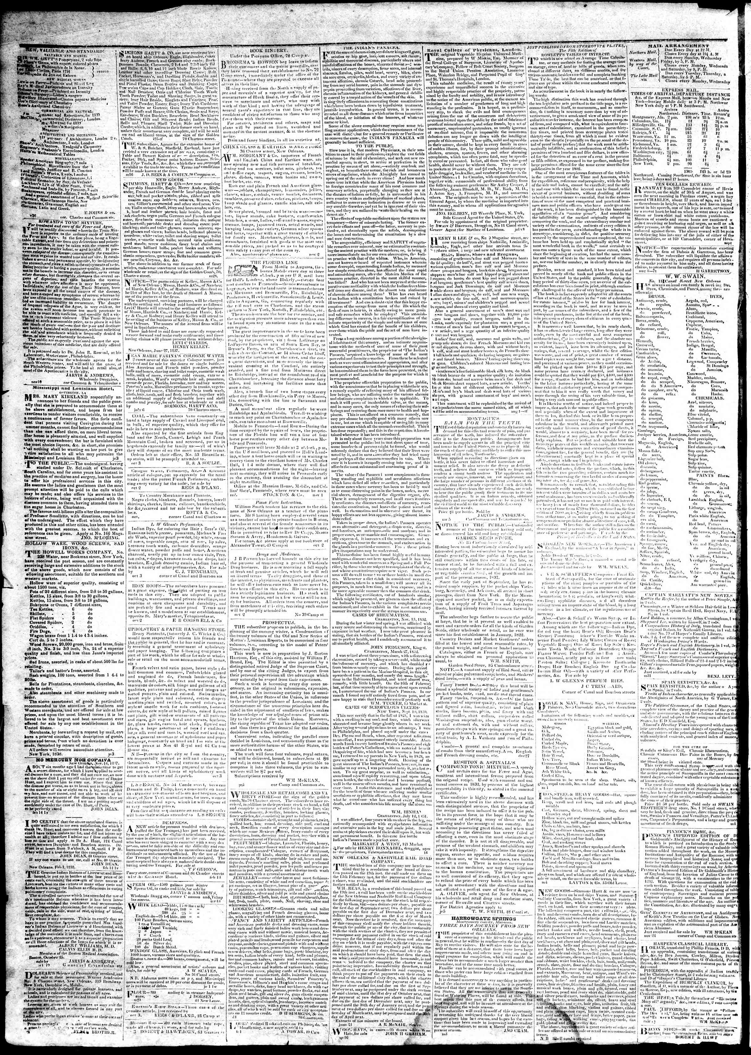Newspaper of True American dated March 13, 1839 Page 4