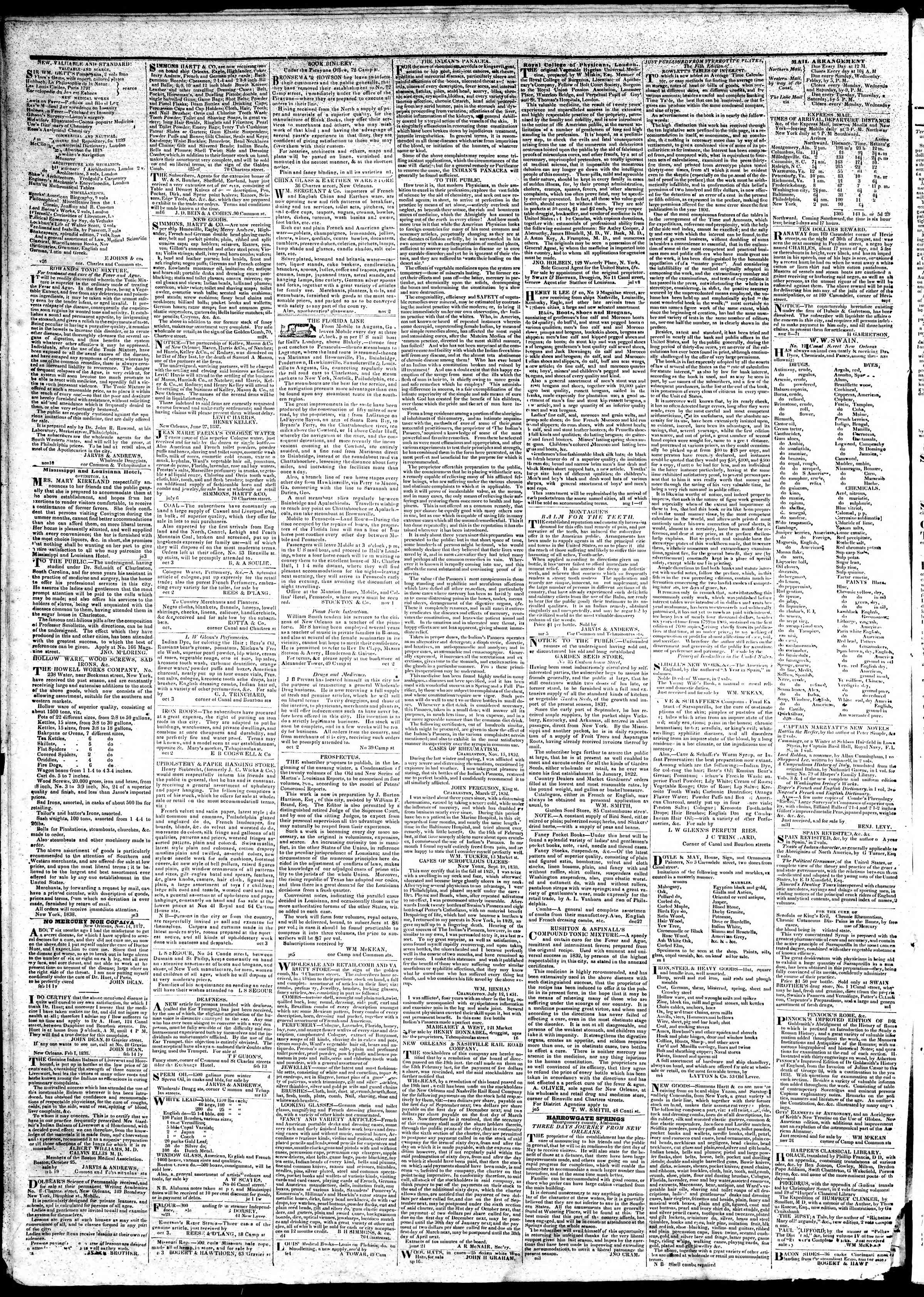 March 16, 1839 Tarihli True American Gazetesi Sayfa 4