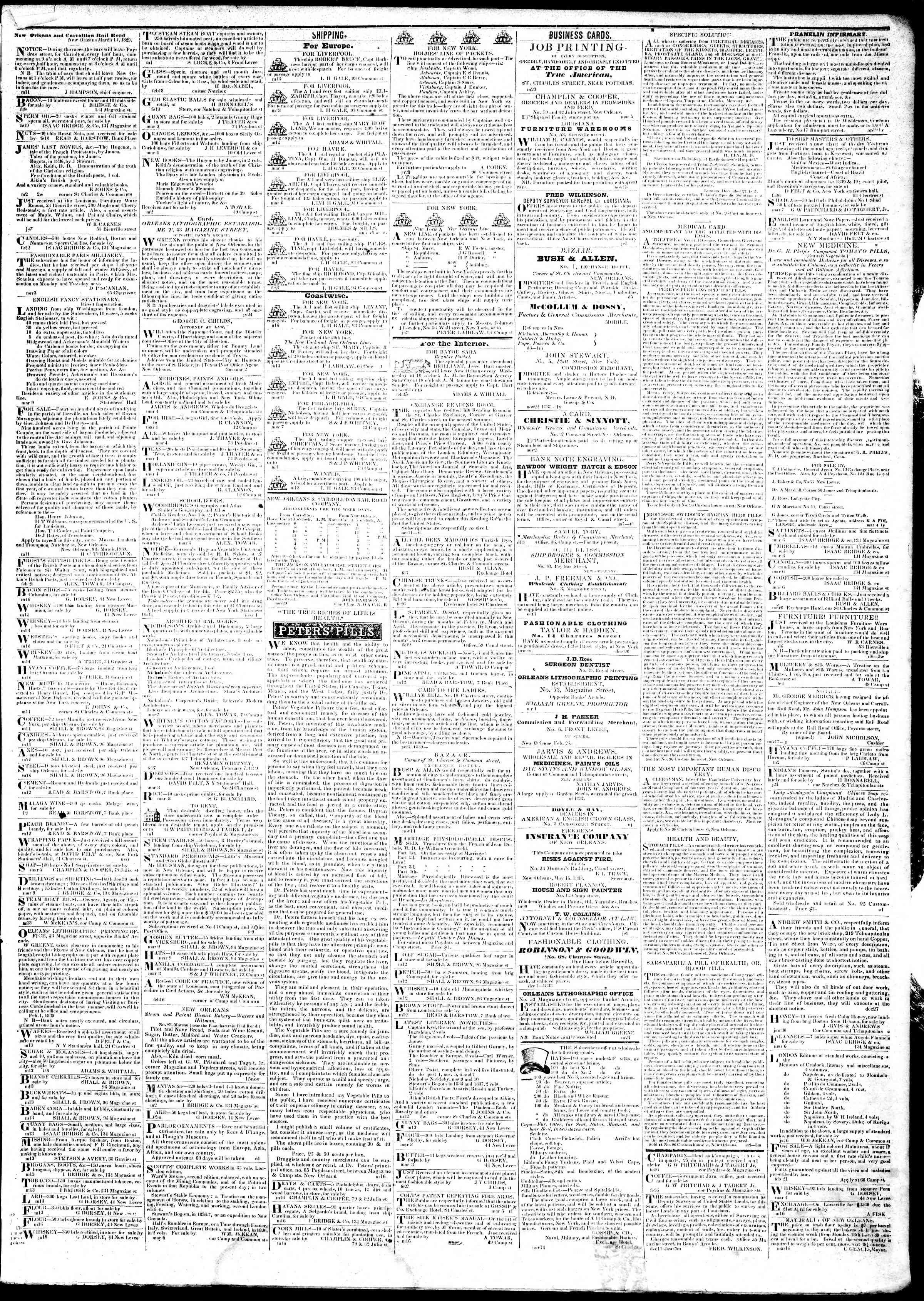 18 Mart 1839 Tarihli True American Gazetesi Sayfa 3