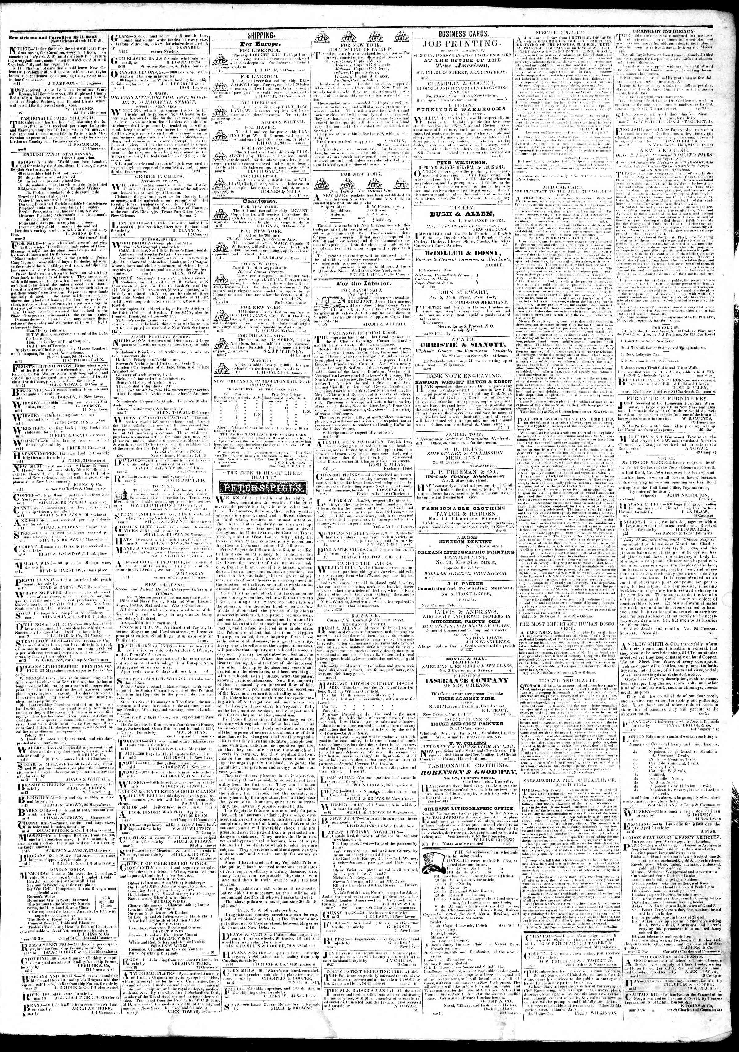 Newspaper of True American dated March 19, 1839 Page 3