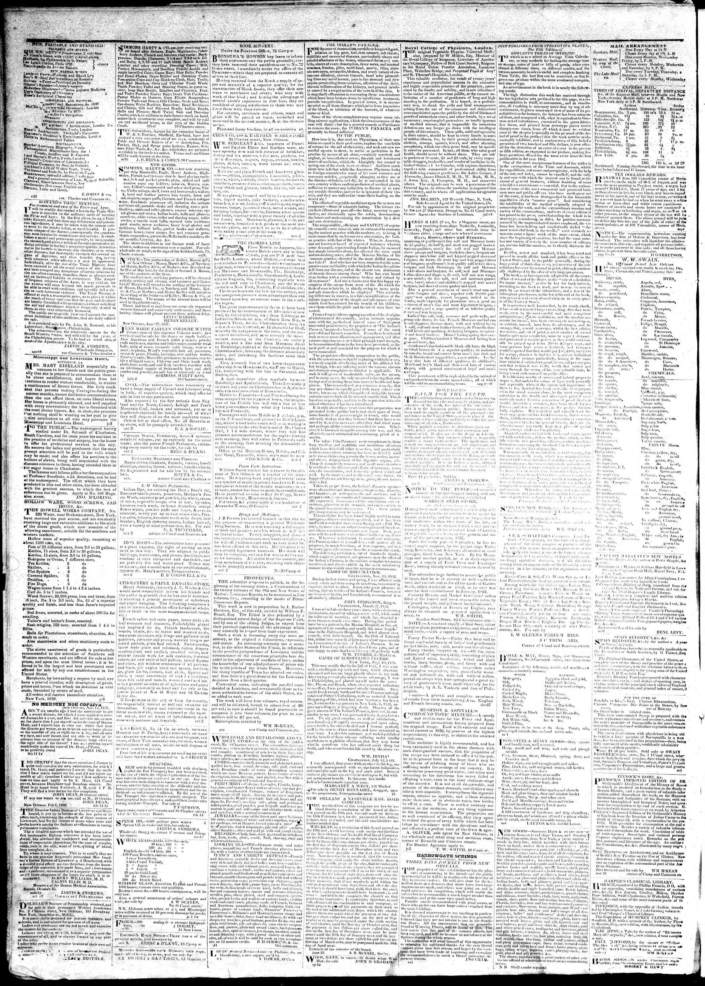 Newspaper of True American dated March 19, 1839 Page 4