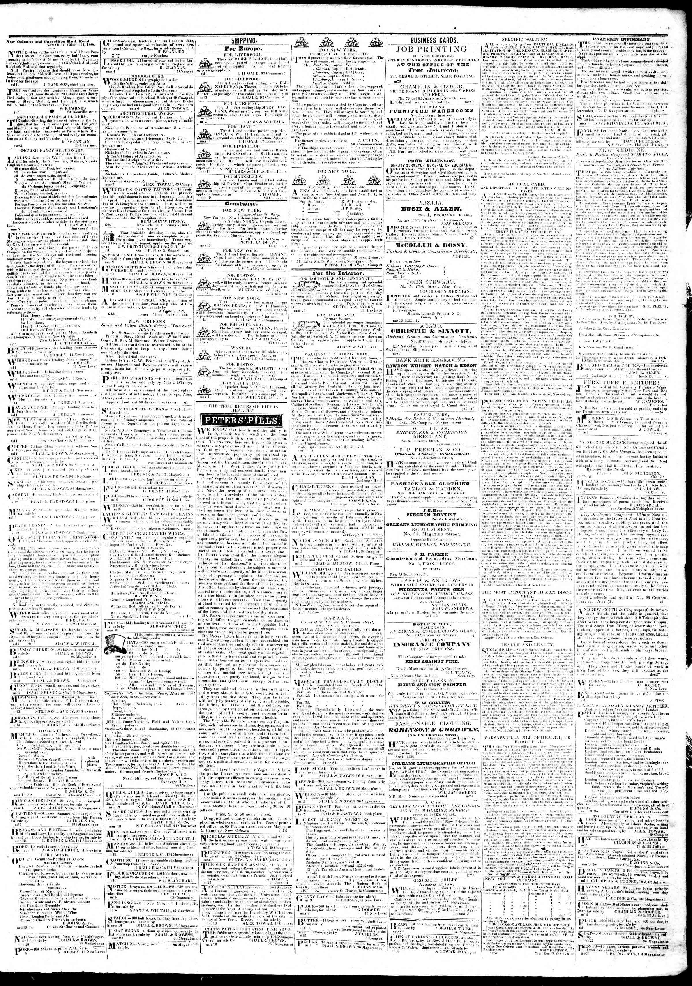 March 21, 1839 Tarihli True American Gazetesi Sayfa 3