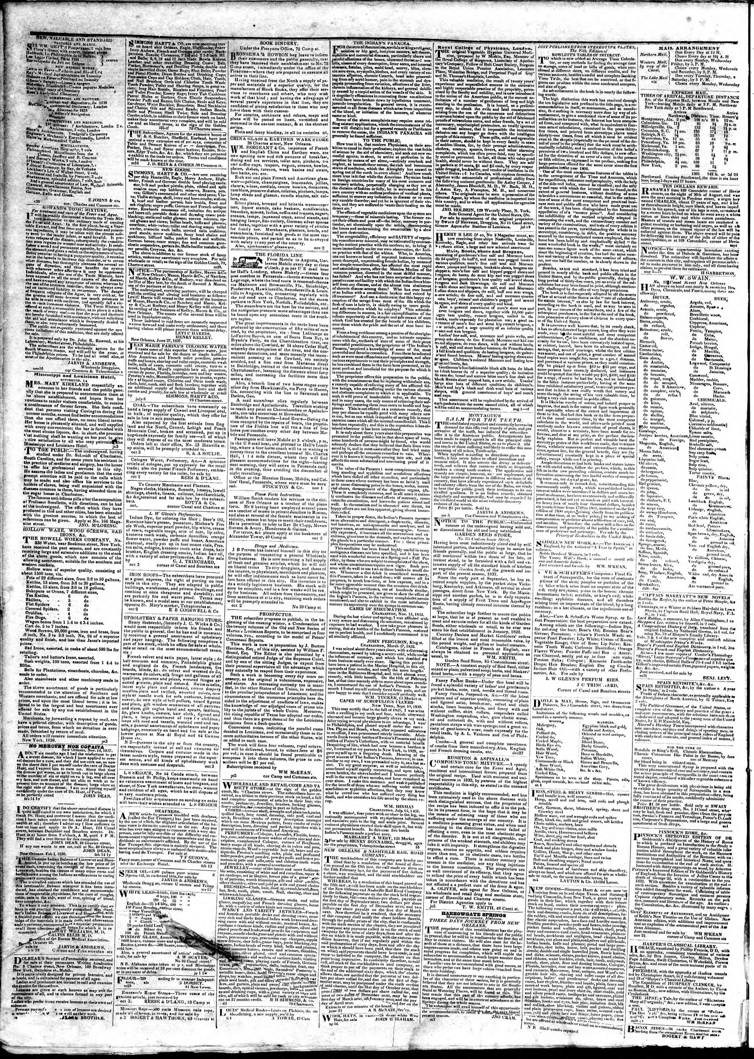 March 21, 1839 Tarihli True American Gazetesi Sayfa 4