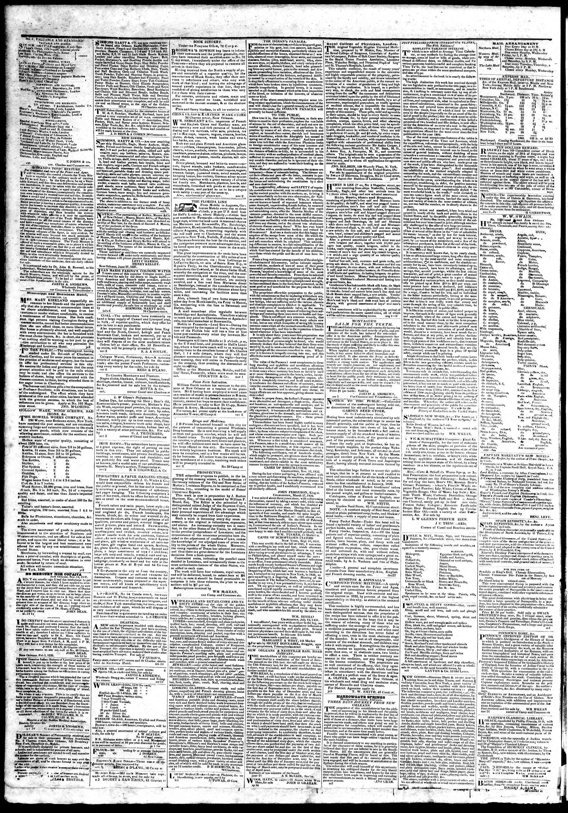 March 22, 1839 Tarihli True American Gazetesi Sayfa 4