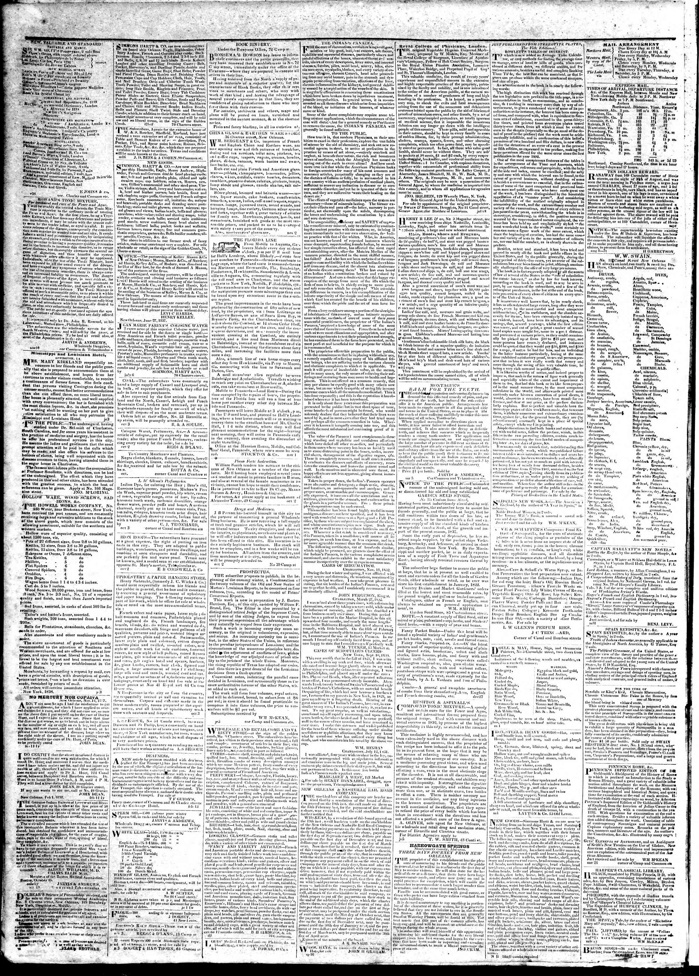 Newspaper of True American dated March 23, 1839 Page 4