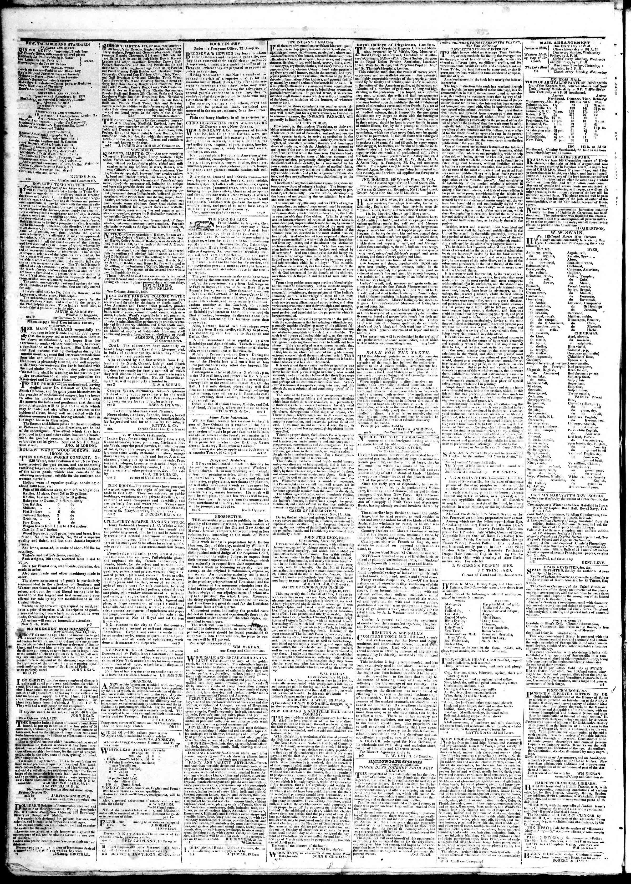March 25, 1839 Tarihli True American Gazetesi Sayfa 4