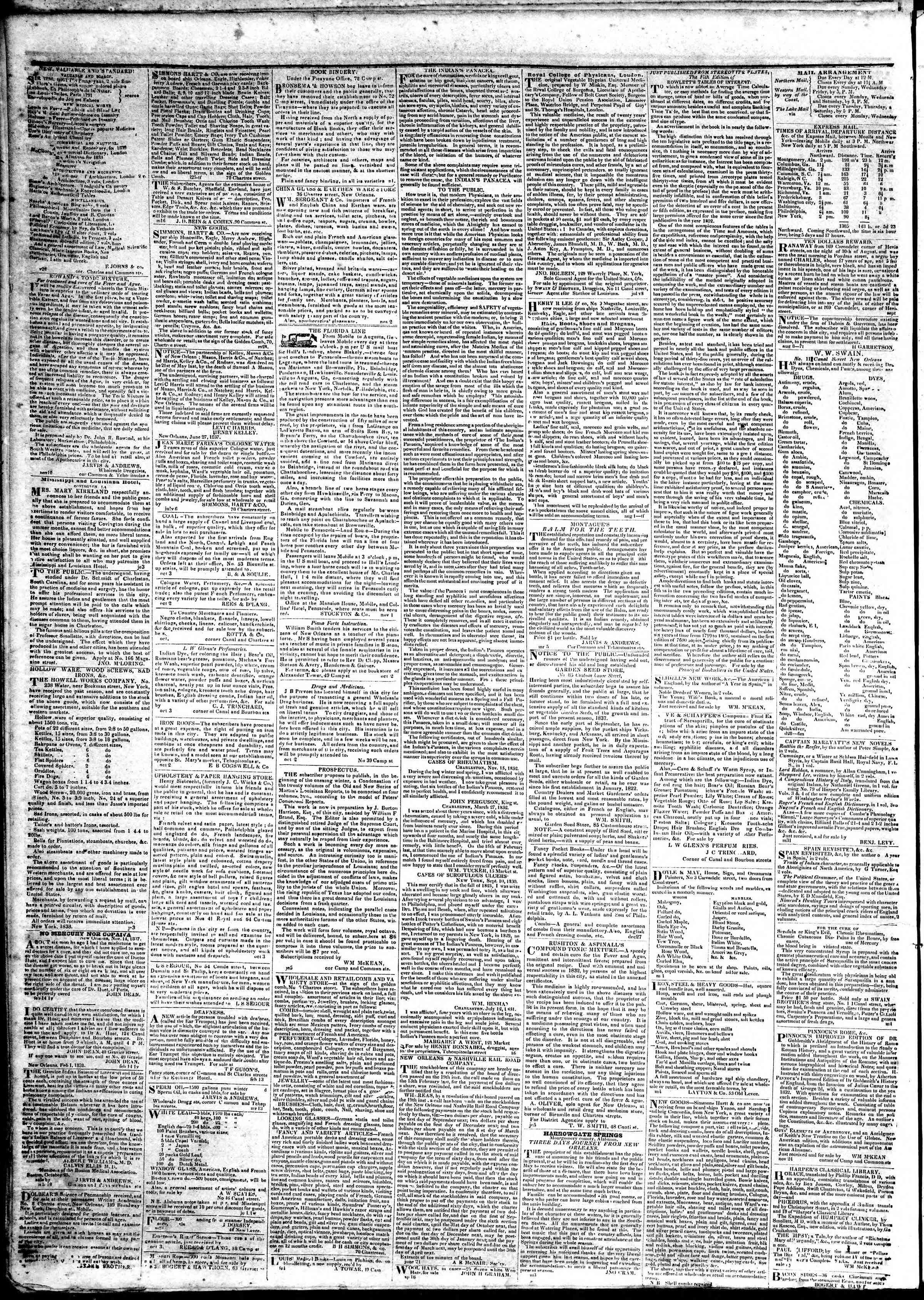 Newspaper of True American dated March 26, 1839 Page 4