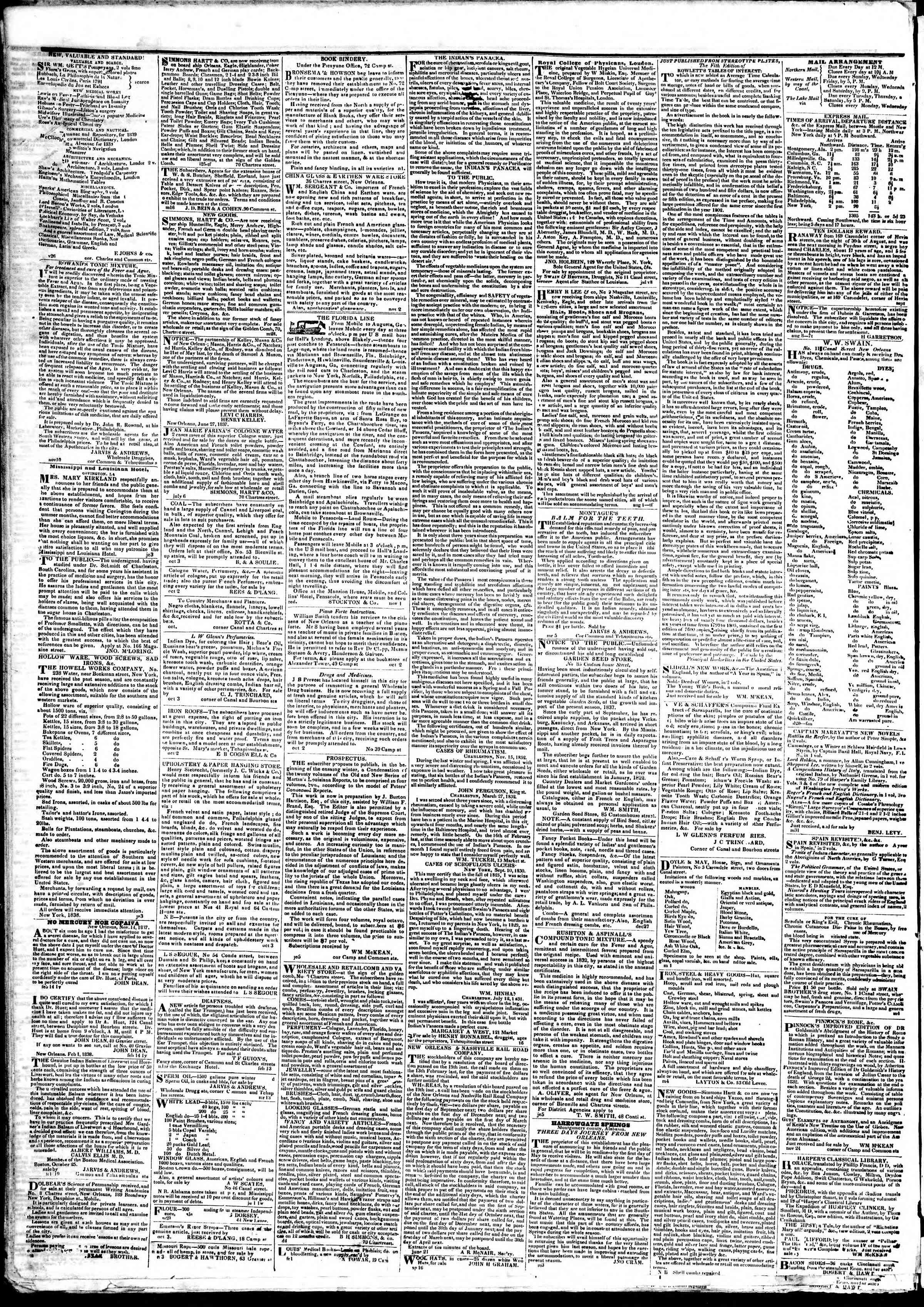 March 27, 1839 Tarihli True American Gazetesi Sayfa 4