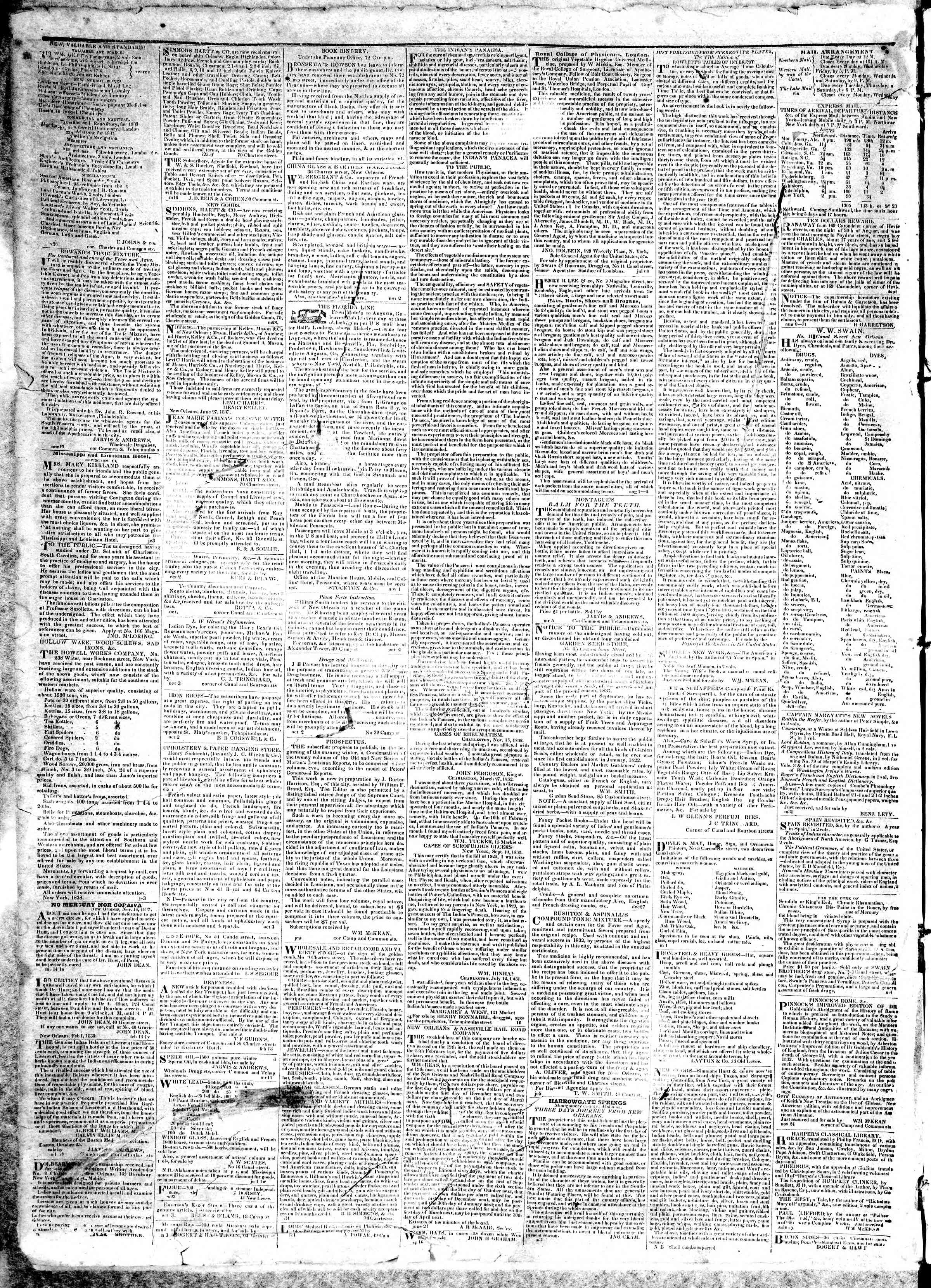 Newspaper of True American dated April 1, 1839 Page 4