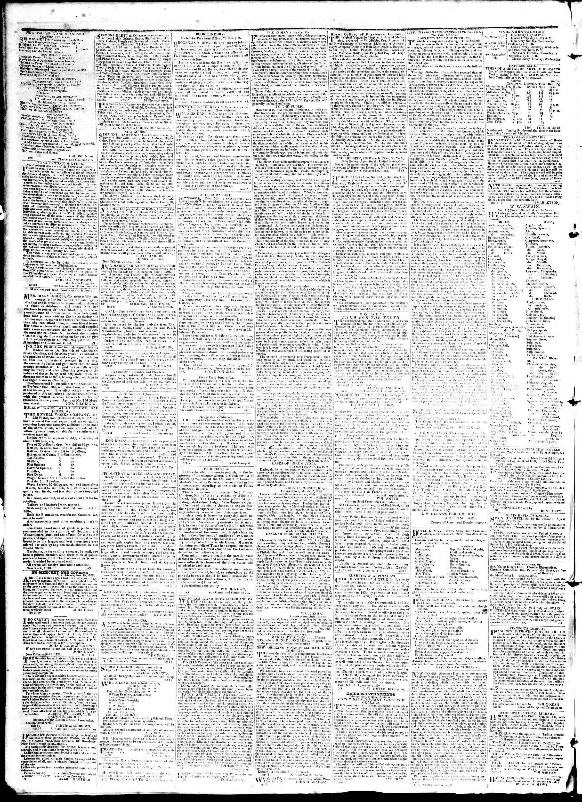Newspaper of True American dated April 2, 1839 Page 4