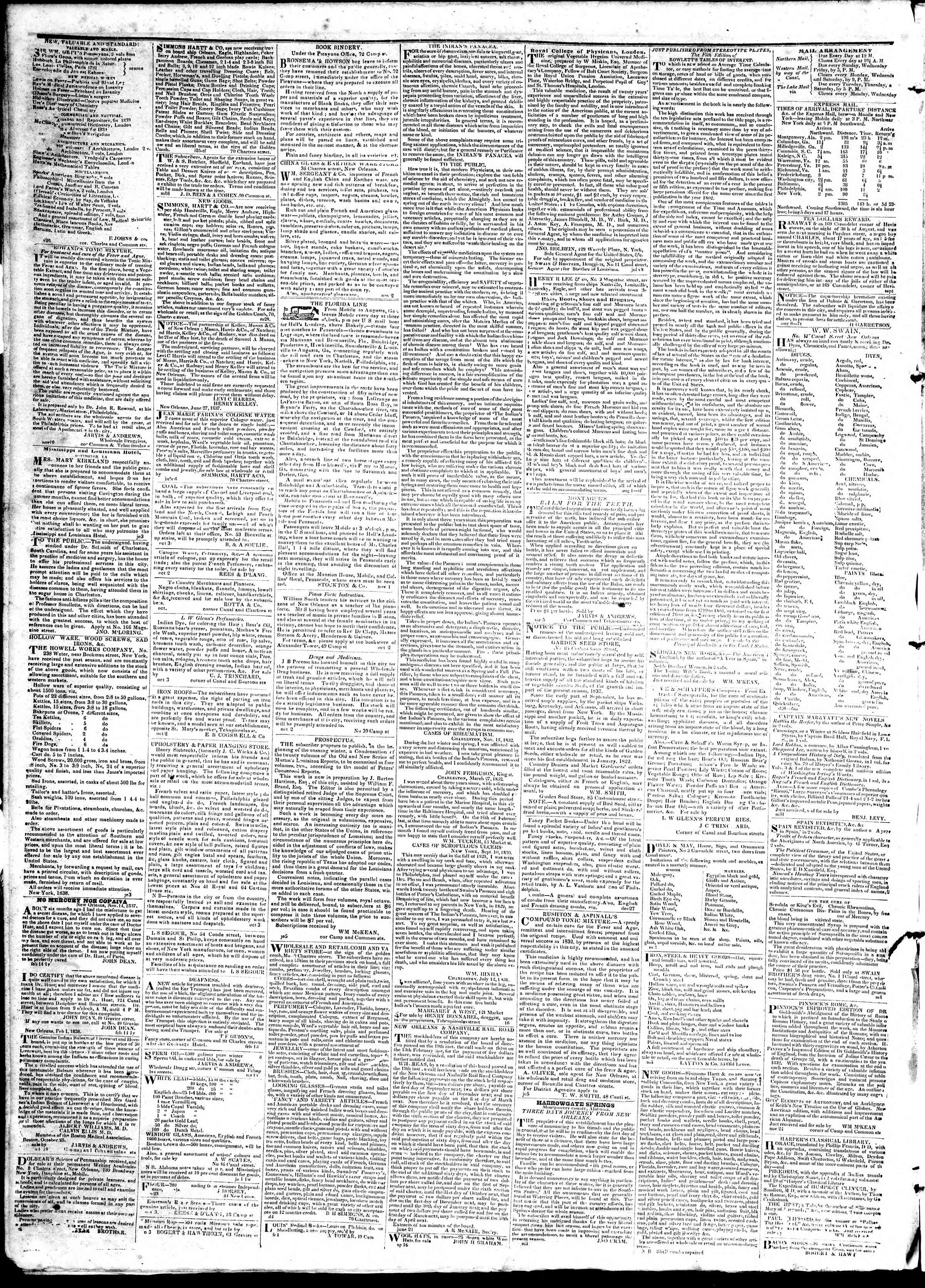 Newspaper of True American dated April 3, 1839 Page 4