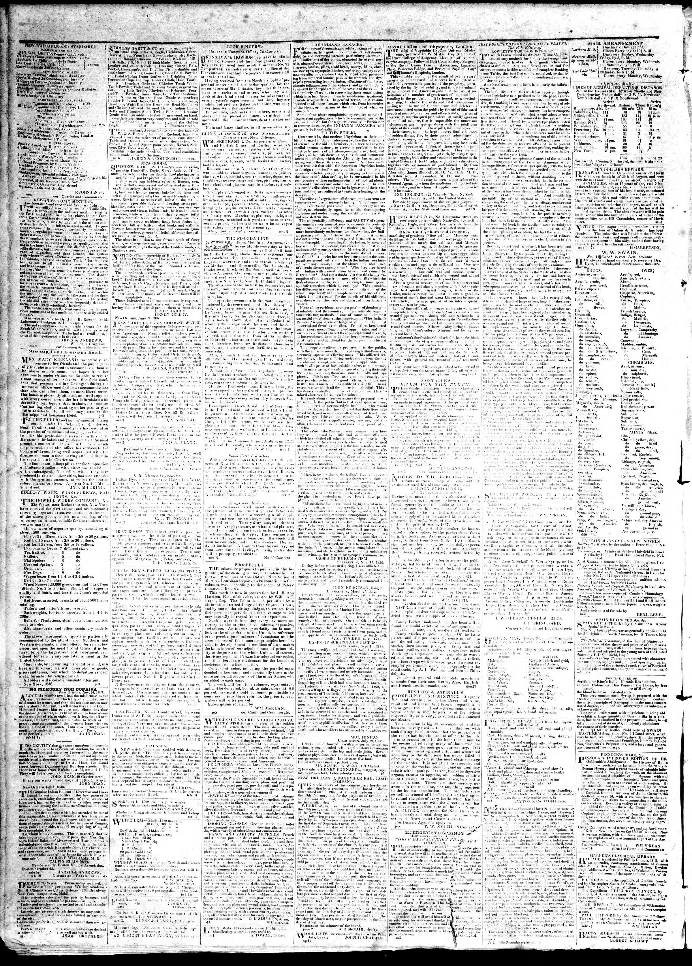 April 4, 1839 Tarihli True American Gazetesi Sayfa 4
