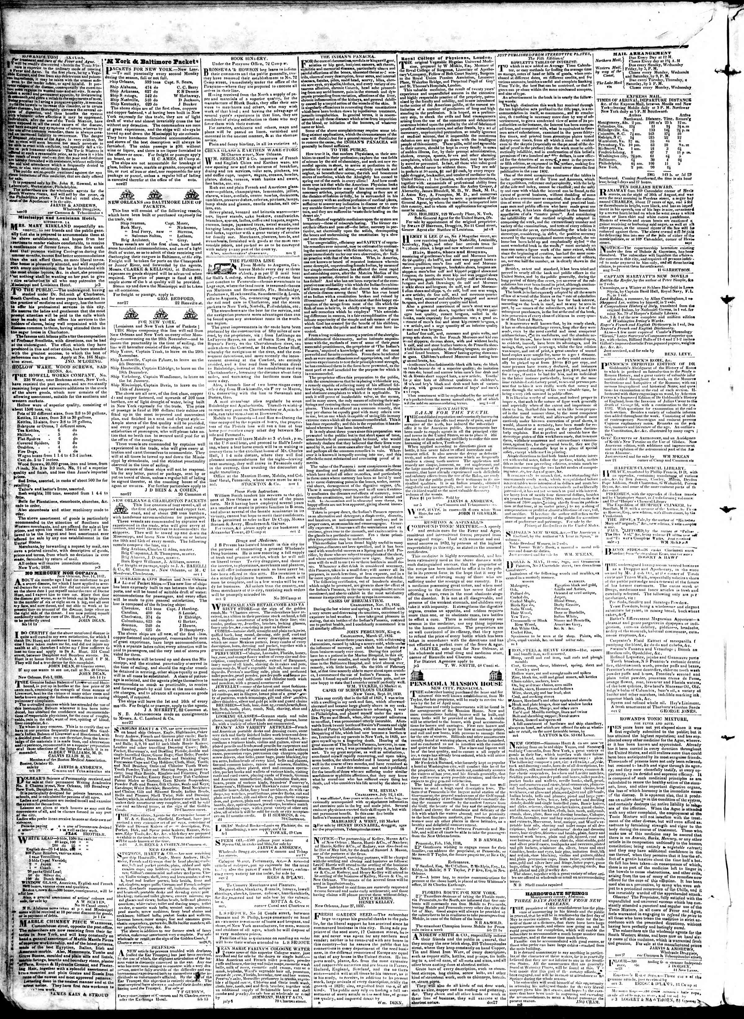 April 10, 1839 Tarihli True American Gazetesi Sayfa 4