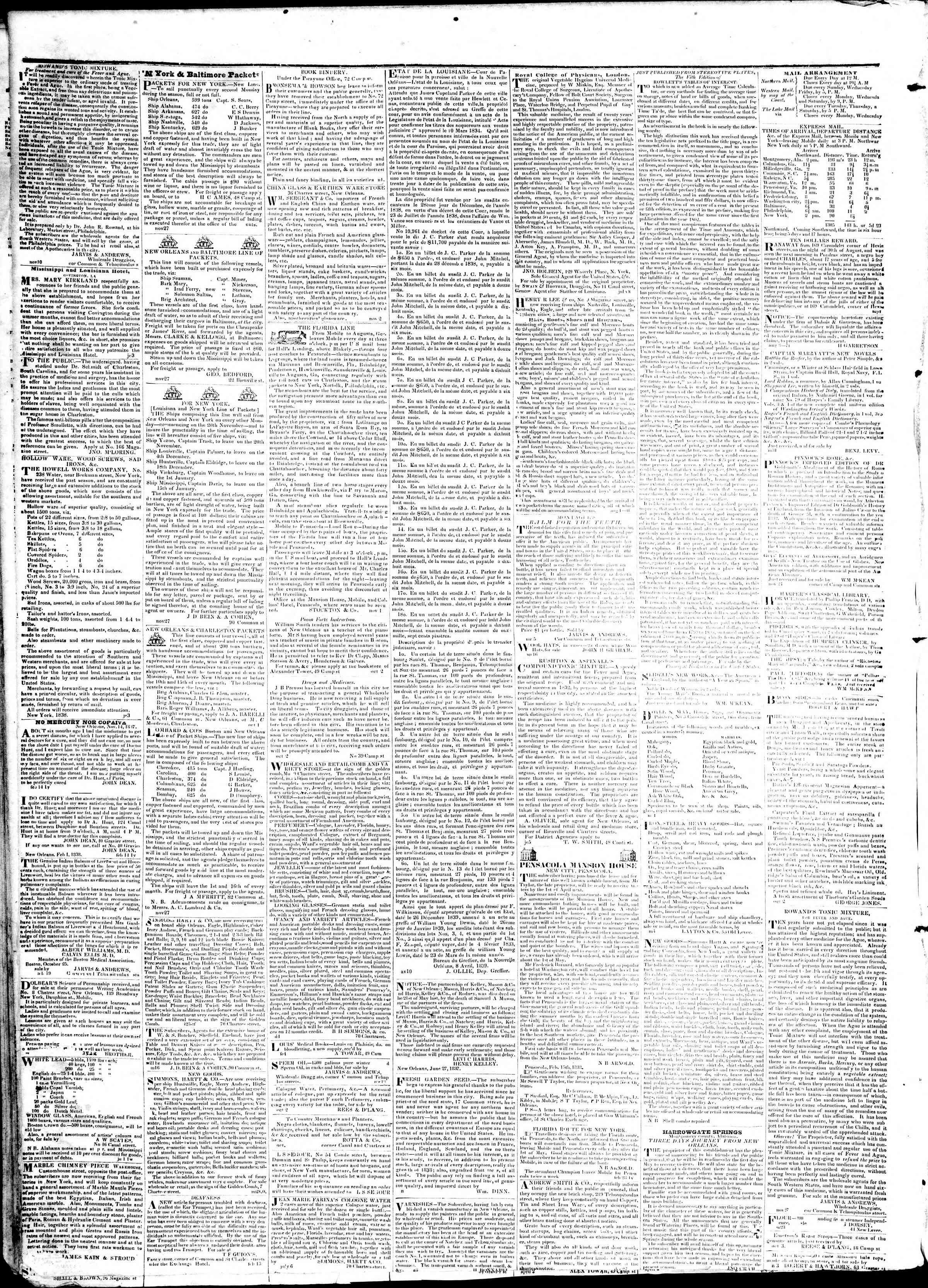 Newspaper of True American dated April 12, 1839 Page 4