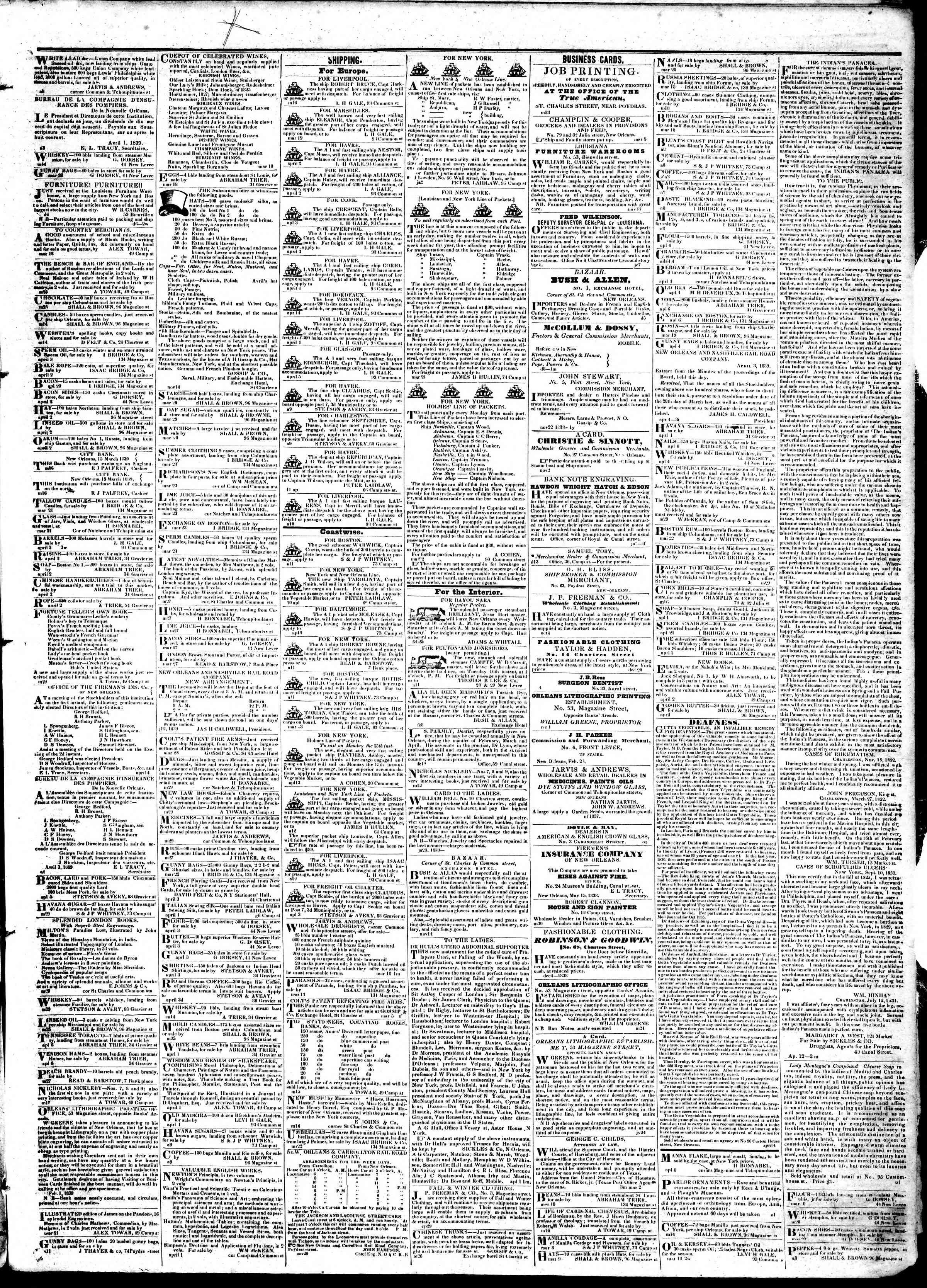 Newspaper of True American dated April 15, 1839 Page 3