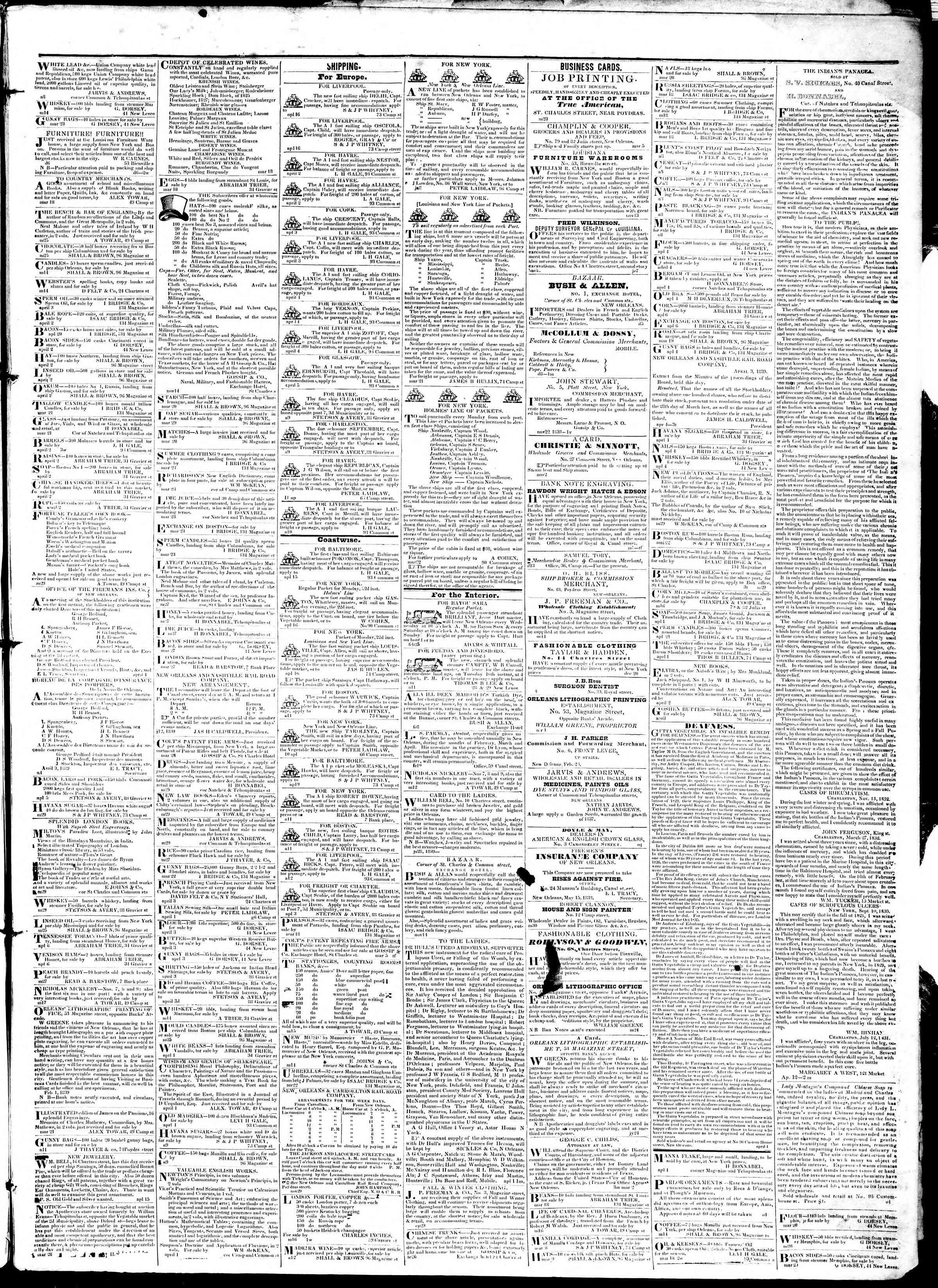 April 17, 1839 Tarihli True American Gazetesi Sayfa 3