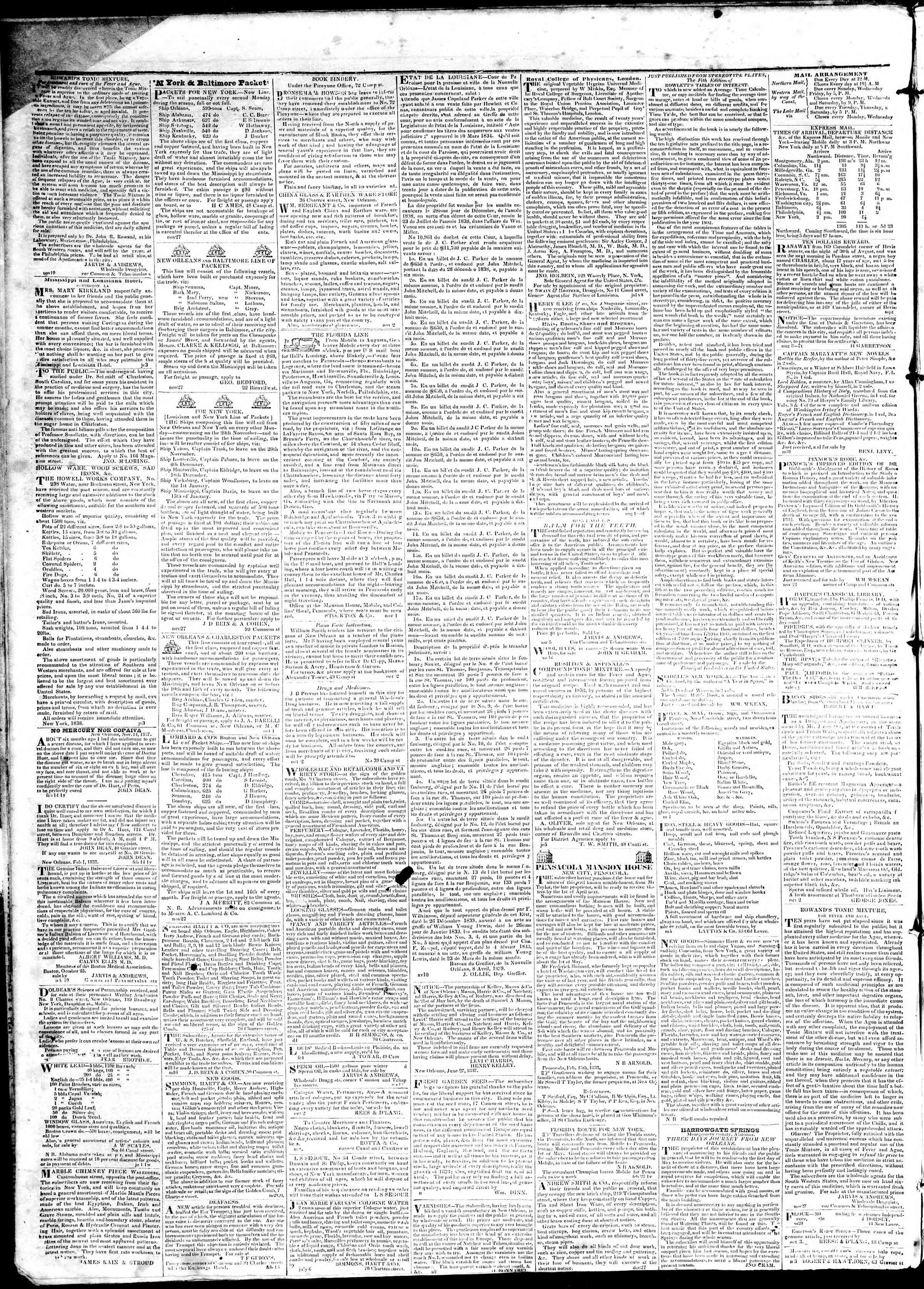 April 17, 1839 Tarihli True American Gazetesi Sayfa 4