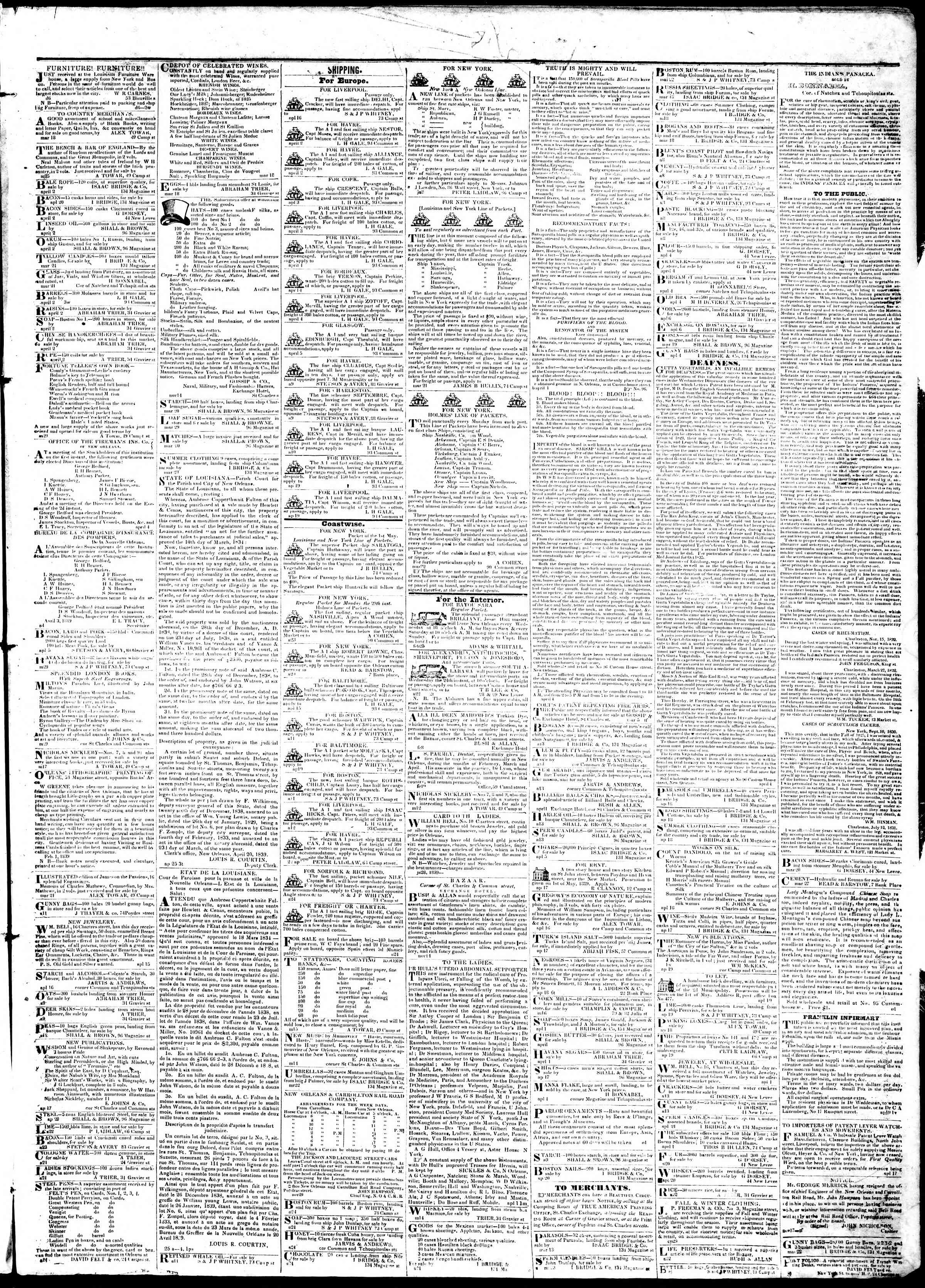 April 26, 1839 Tarihli True American Gazetesi Sayfa 3