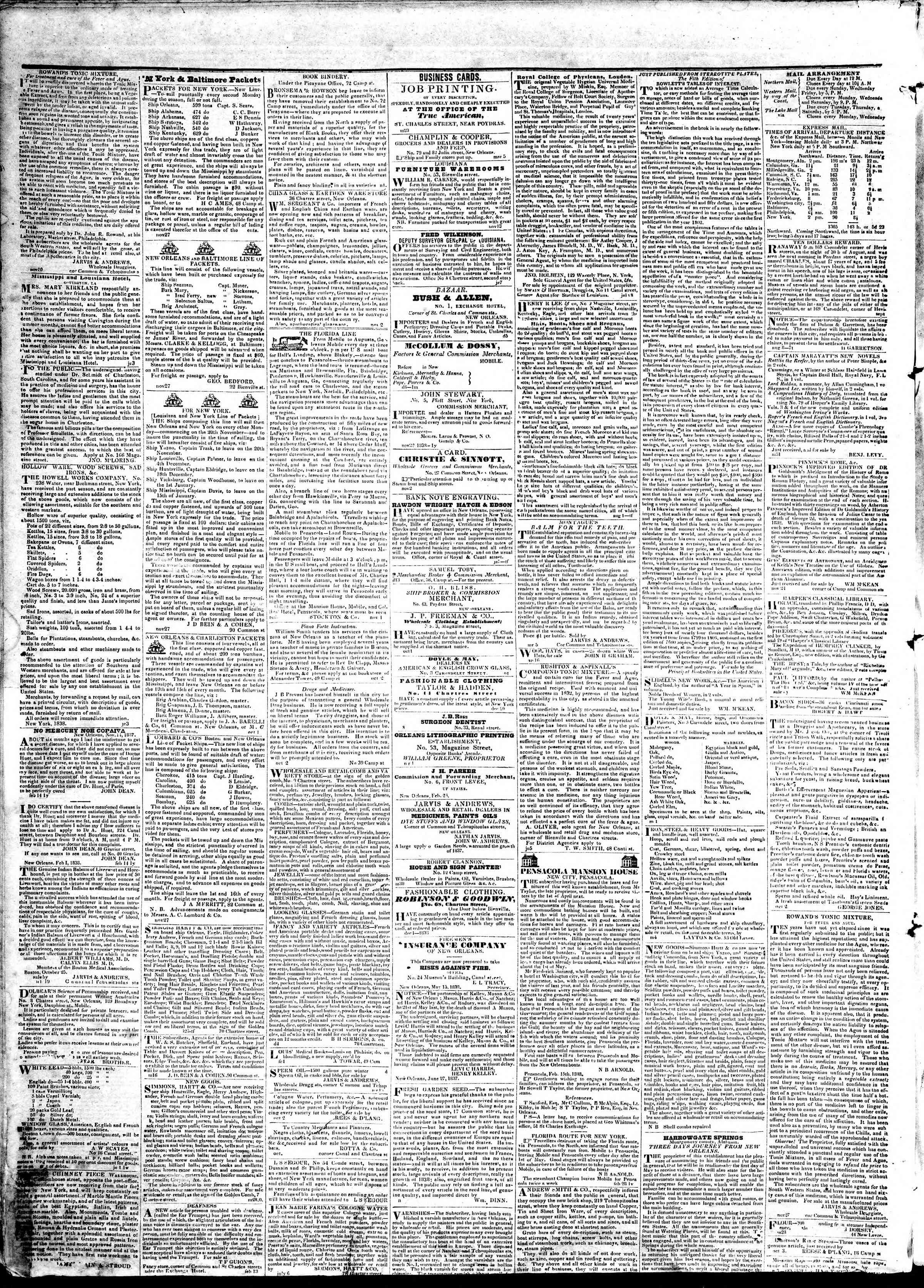 Newspaper of True American dated April 30, 1839 Page 4