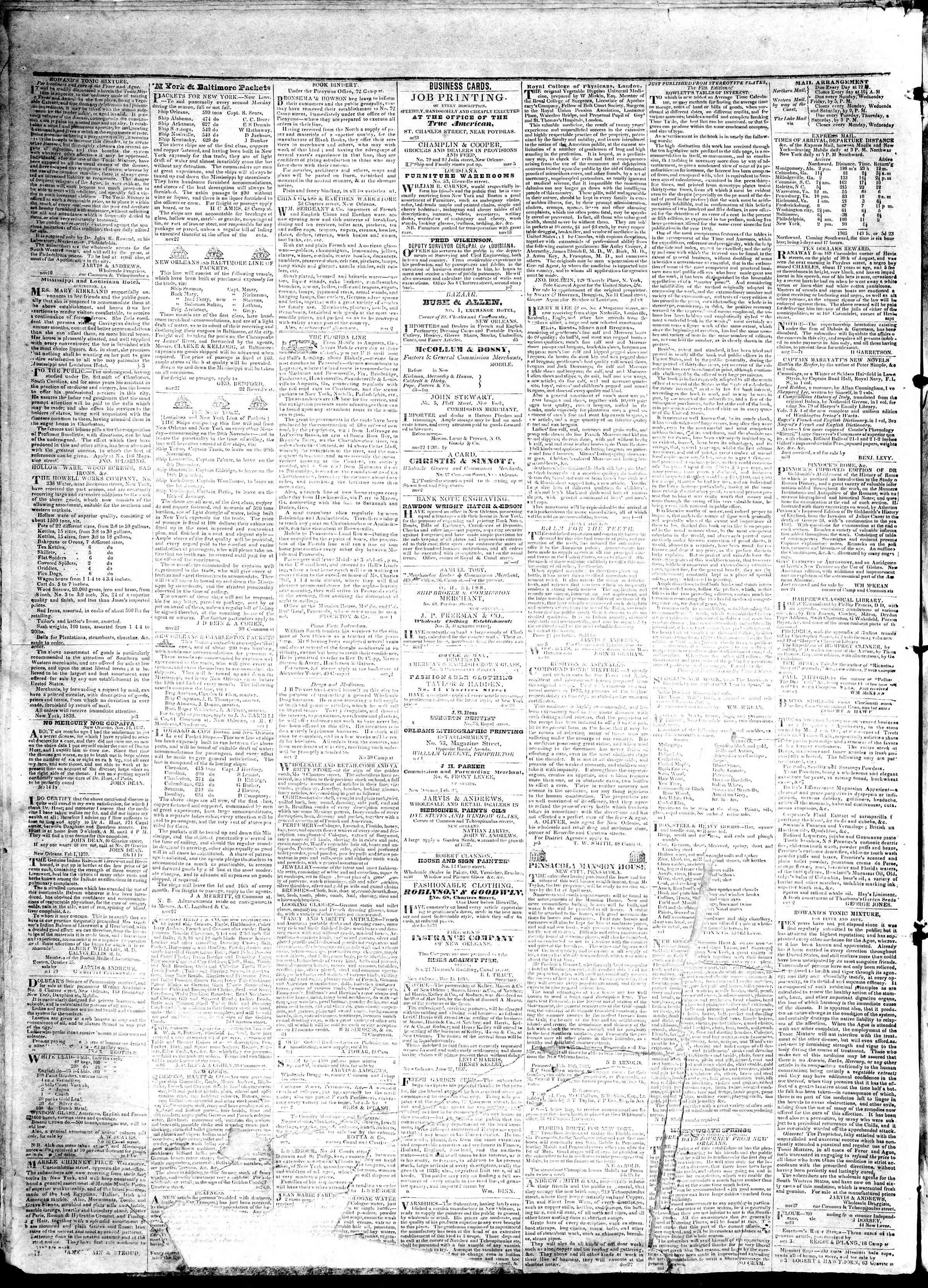 May 2, 1839 Tarihli True American Gazetesi Sayfa 4