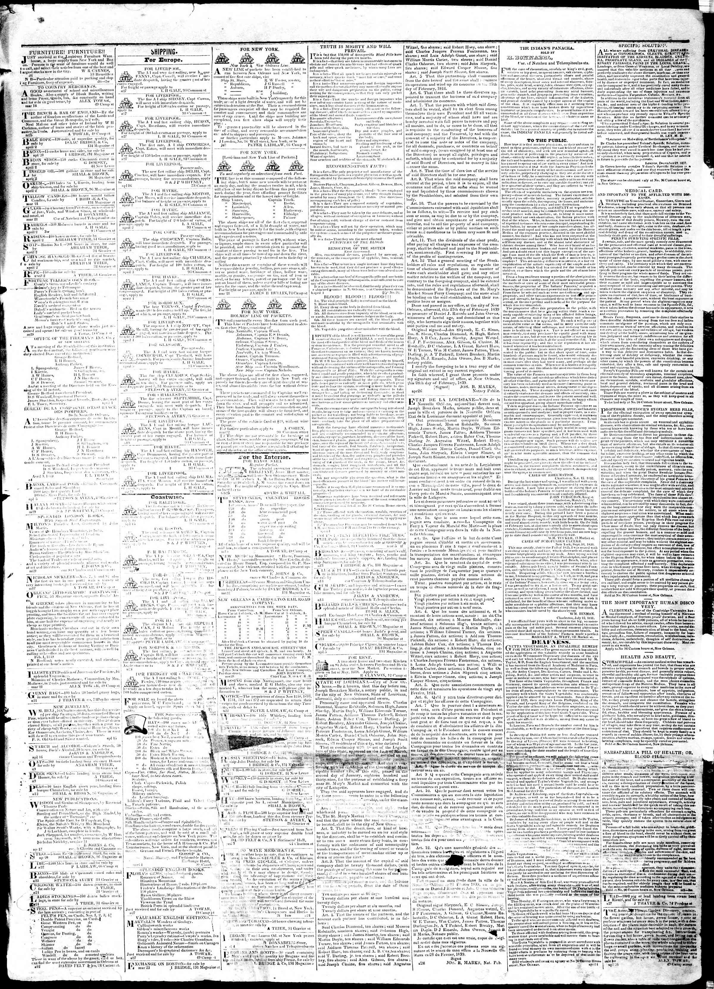 Newspaper of True American dated May 3, 1839 Page 3