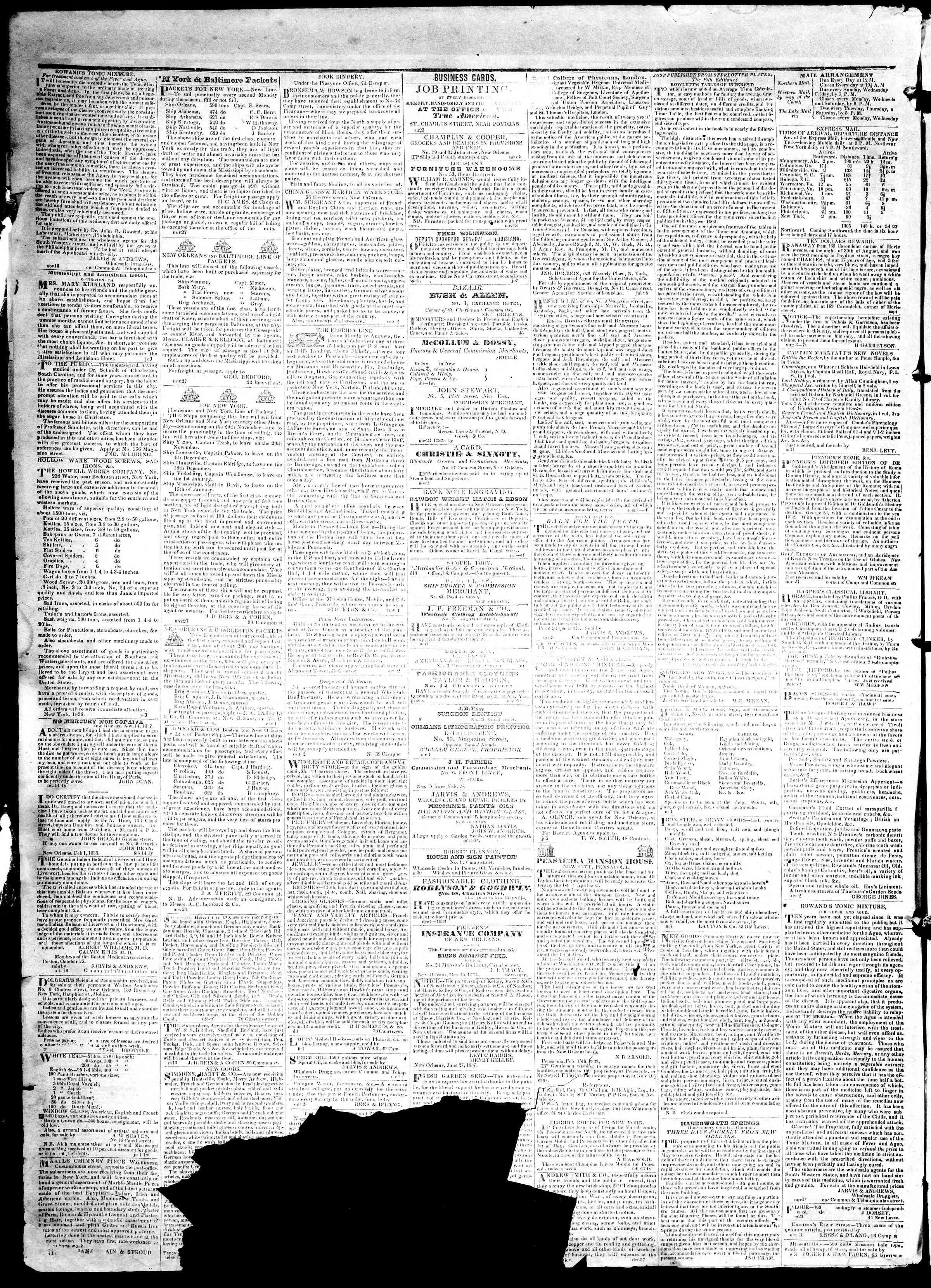 May 6, 1839 Tarihli True American Gazetesi Sayfa 4