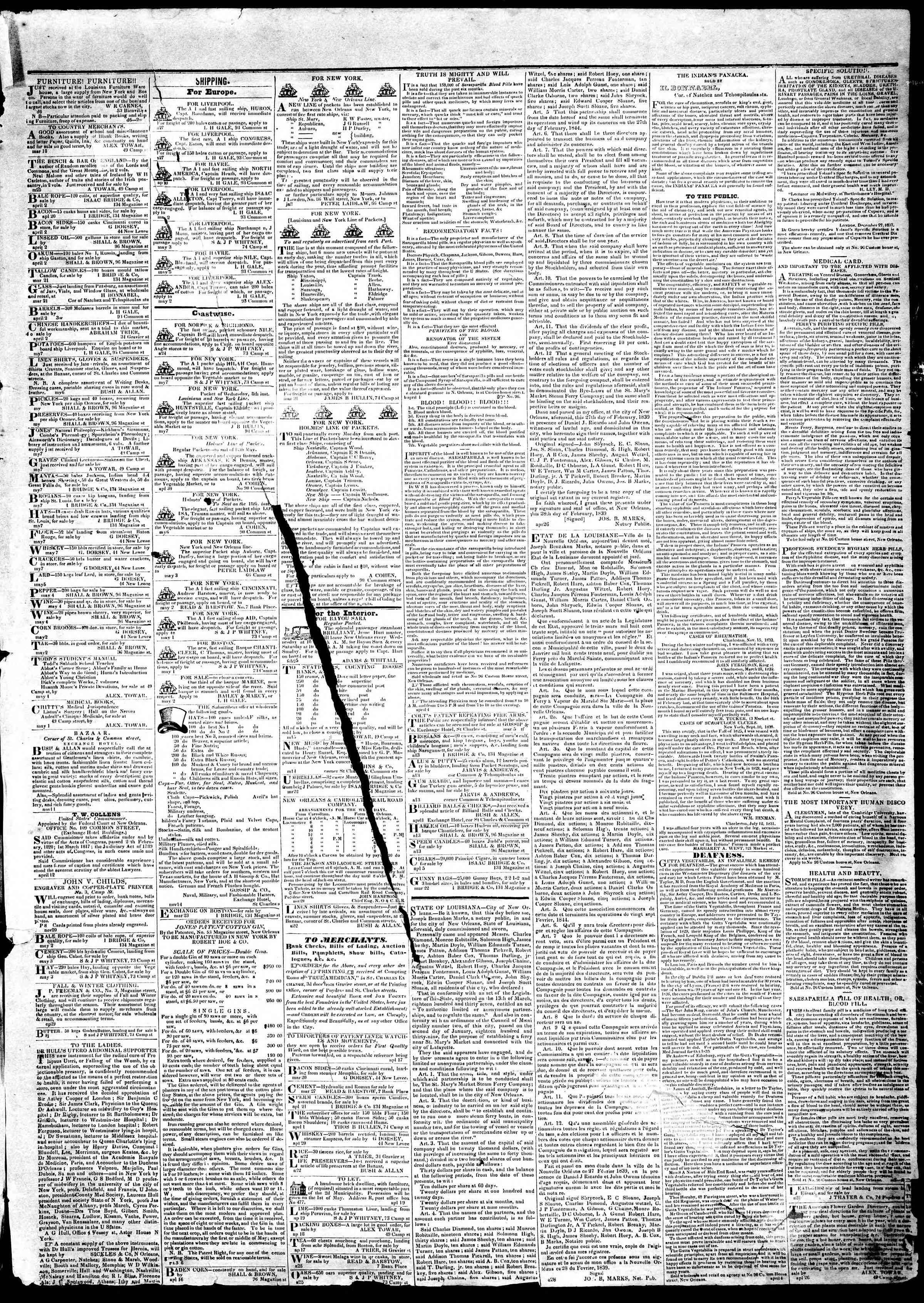 Newspaper of True American dated May 9, 1839 Page 3