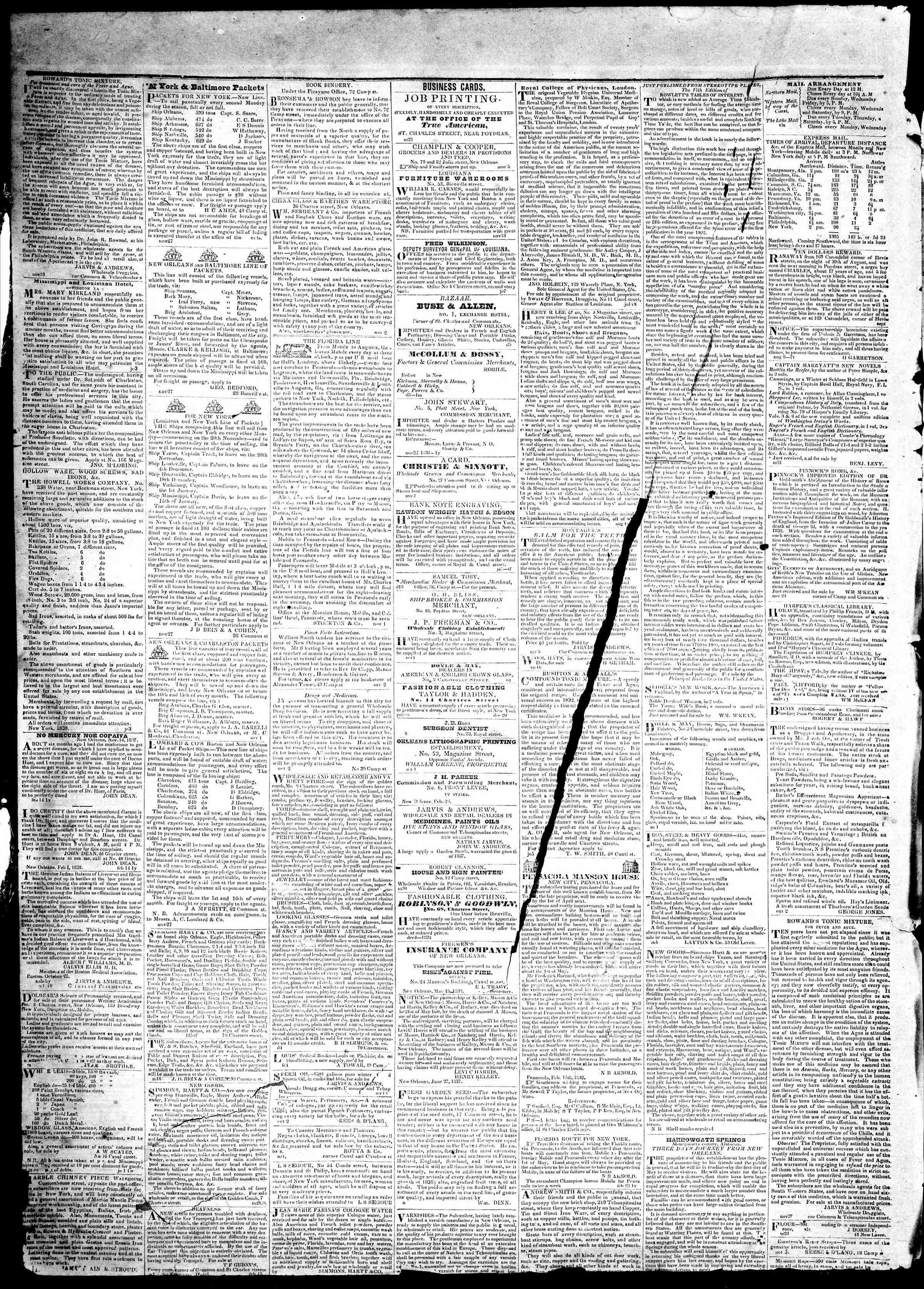 May 9, 1839 Tarihli True American Gazetesi Sayfa 4
