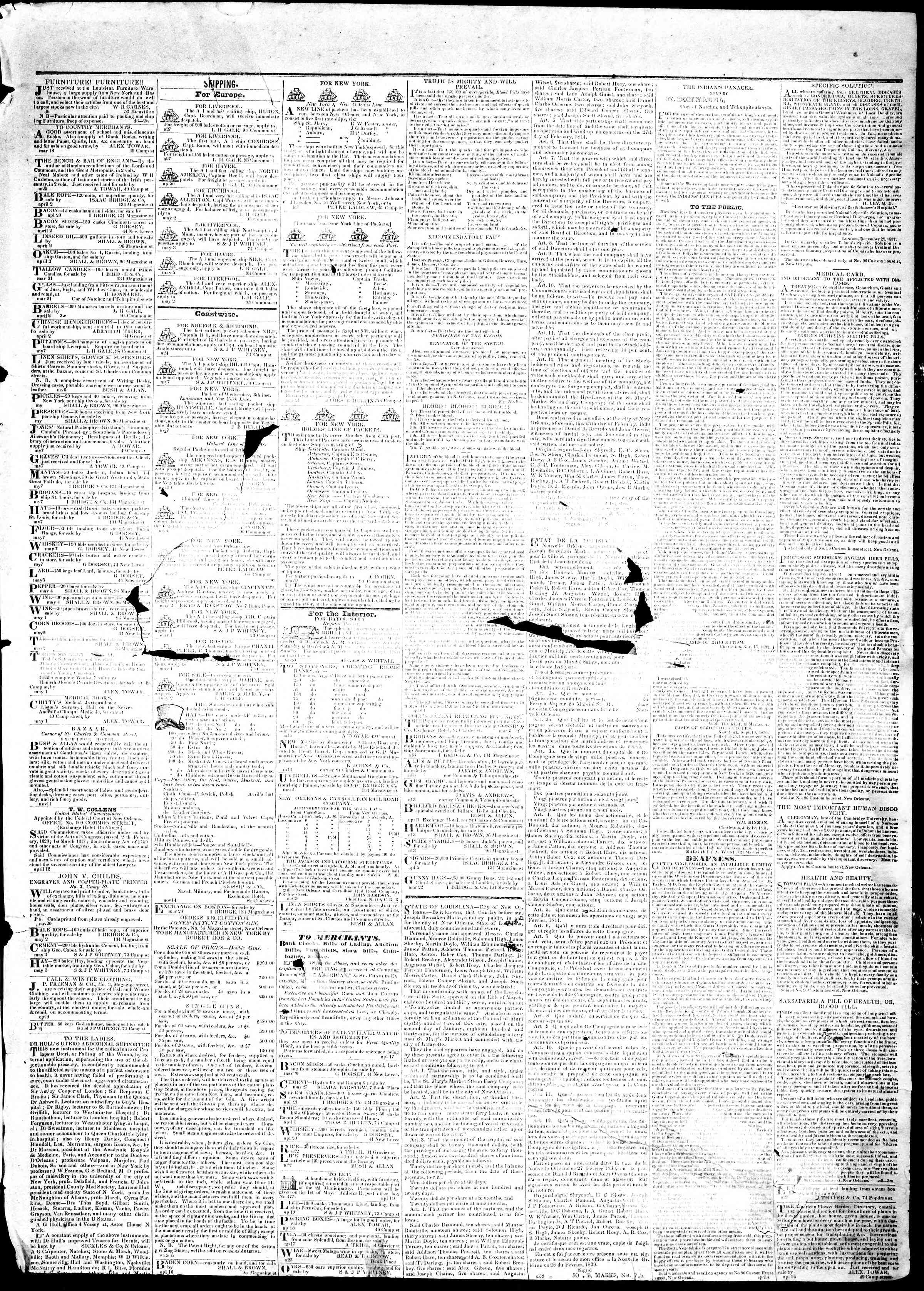 Newspaper of True American dated May 10, 1839 Page 3