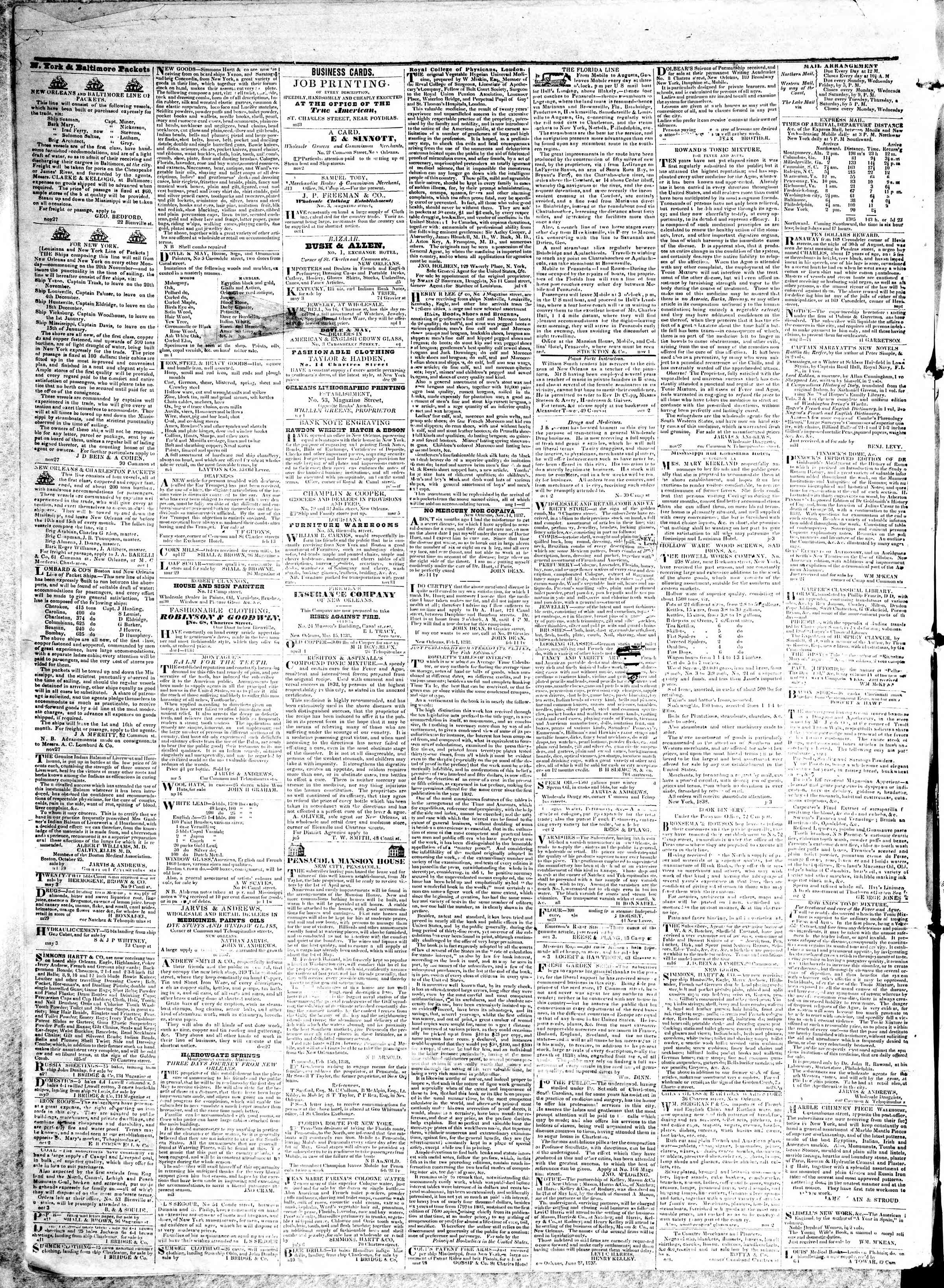May 14, 1839 Tarihli True American Gazetesi Sayfa 2