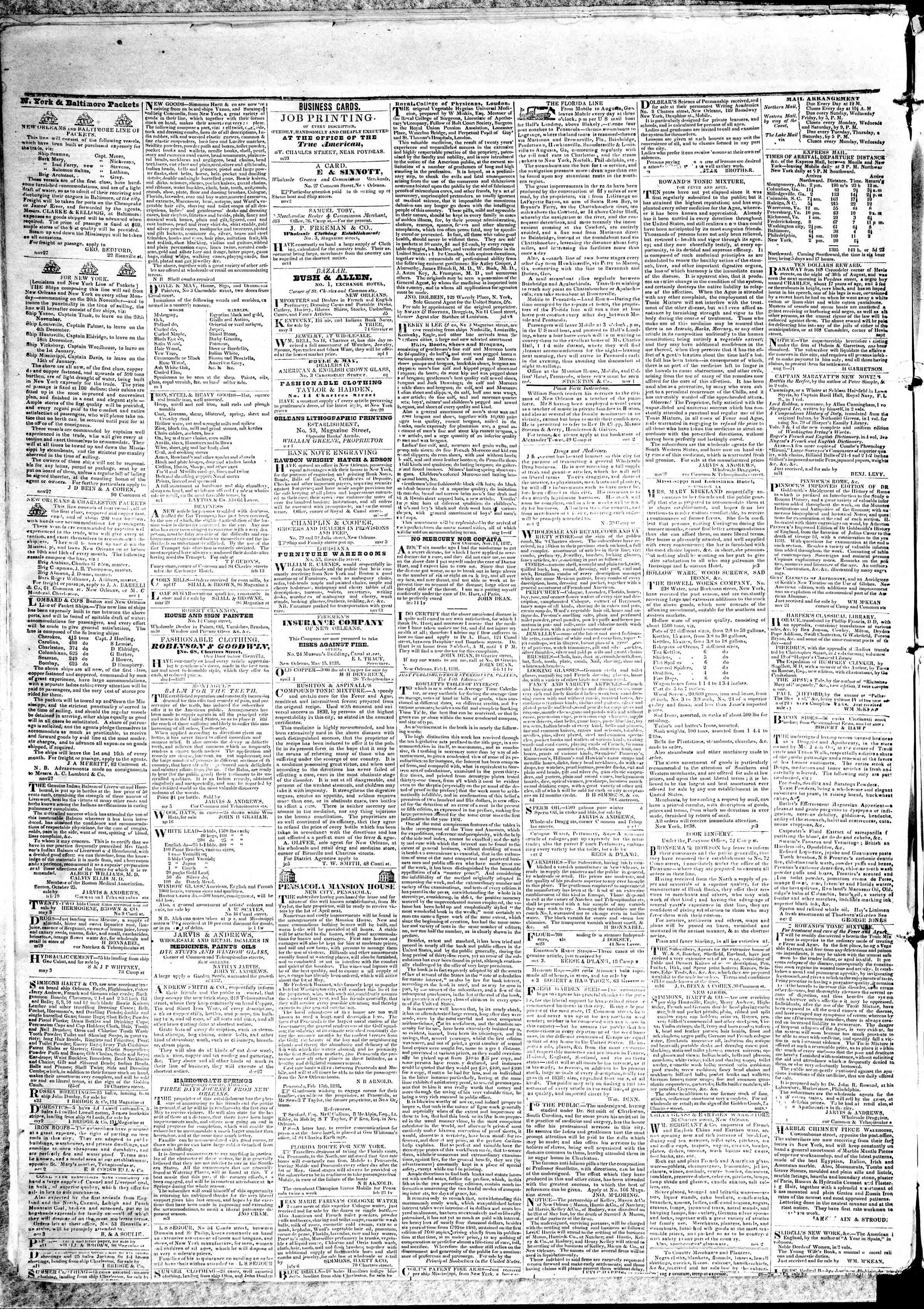 May 16, 1839 Tarihli True American Gazetesi Sayfa 4