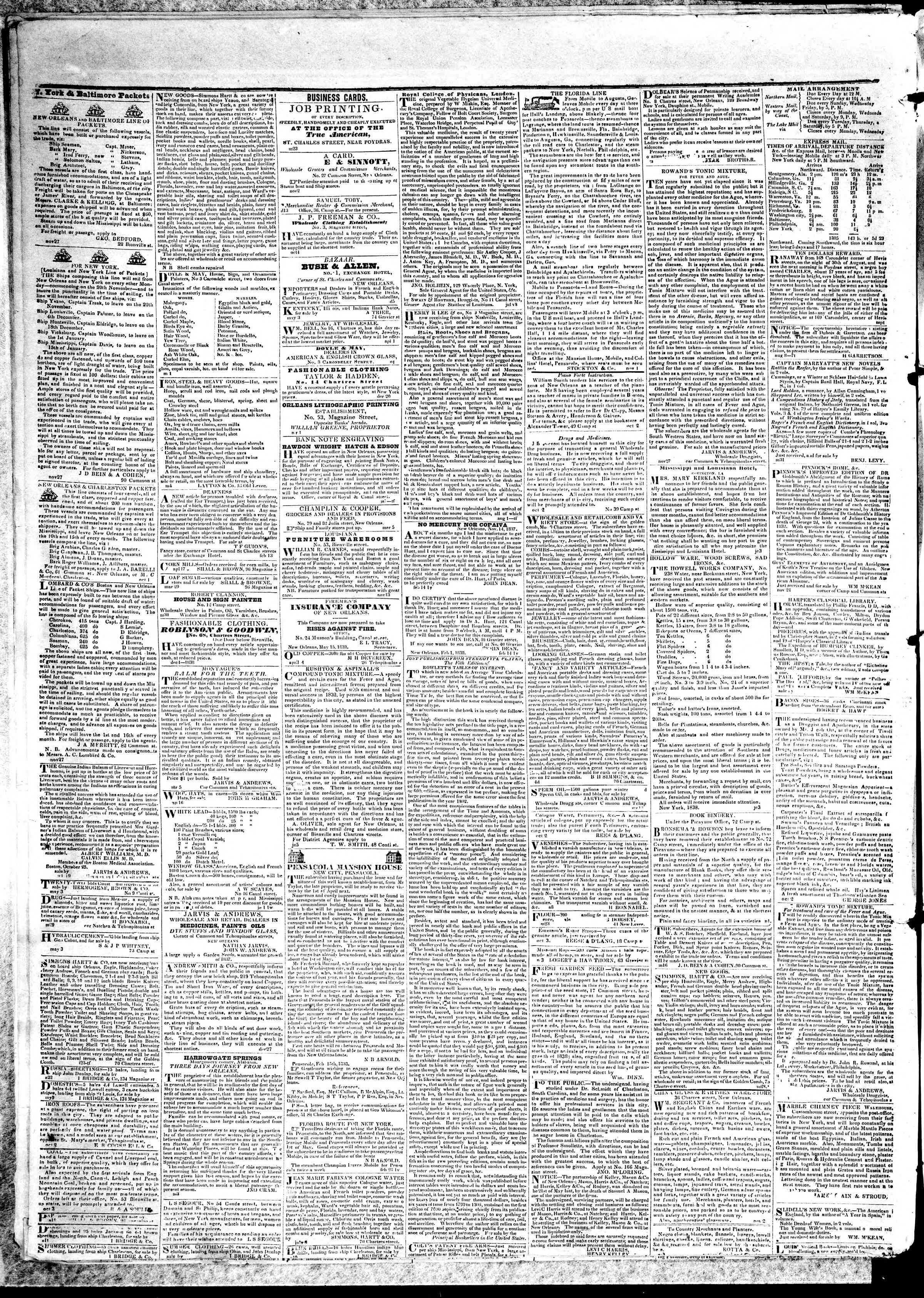 Newspaper of True American dated May 17, 1839 Page 4