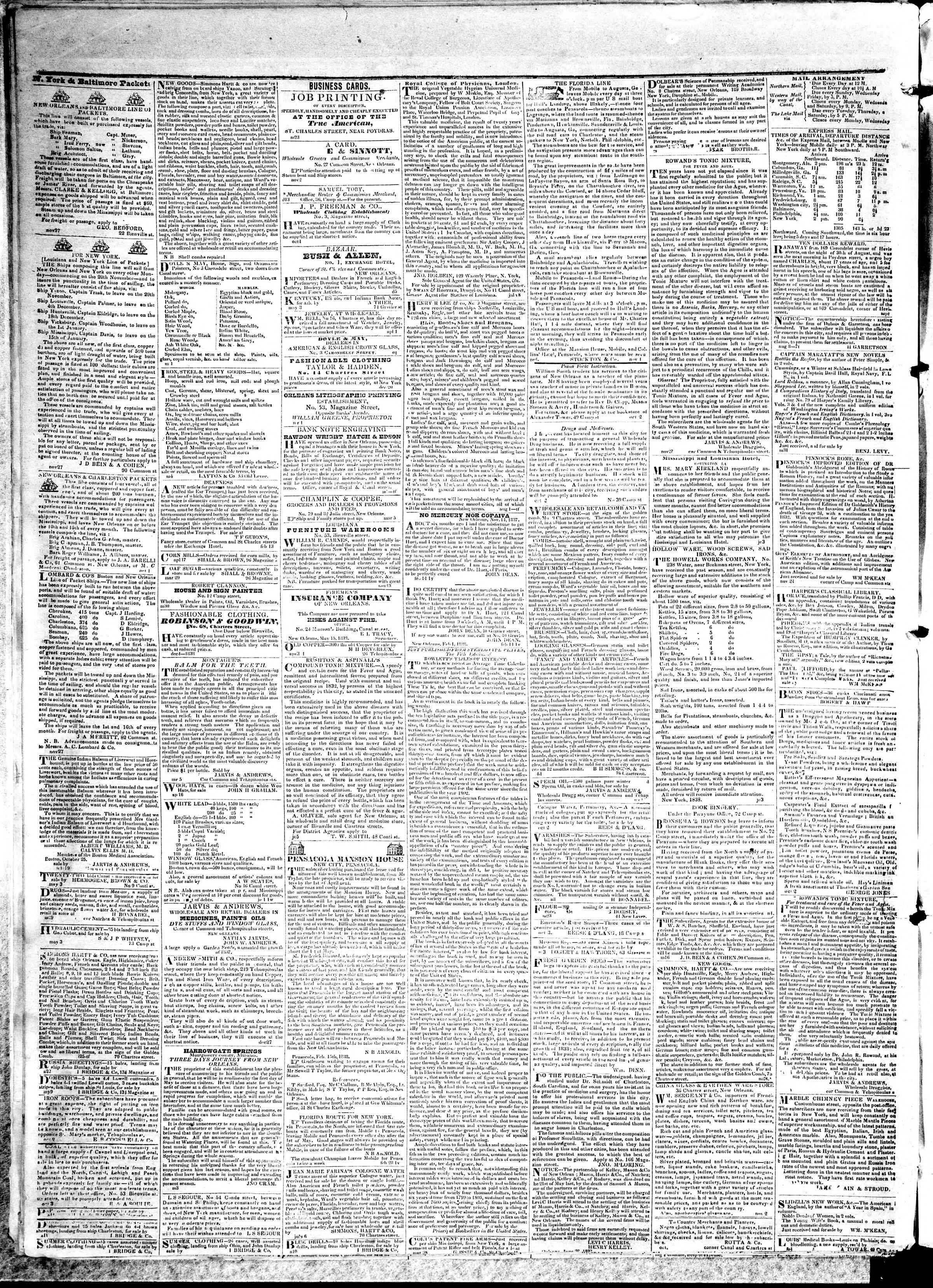 May 18, 1839 Tarihli True American Gazetesi Sayfa 4