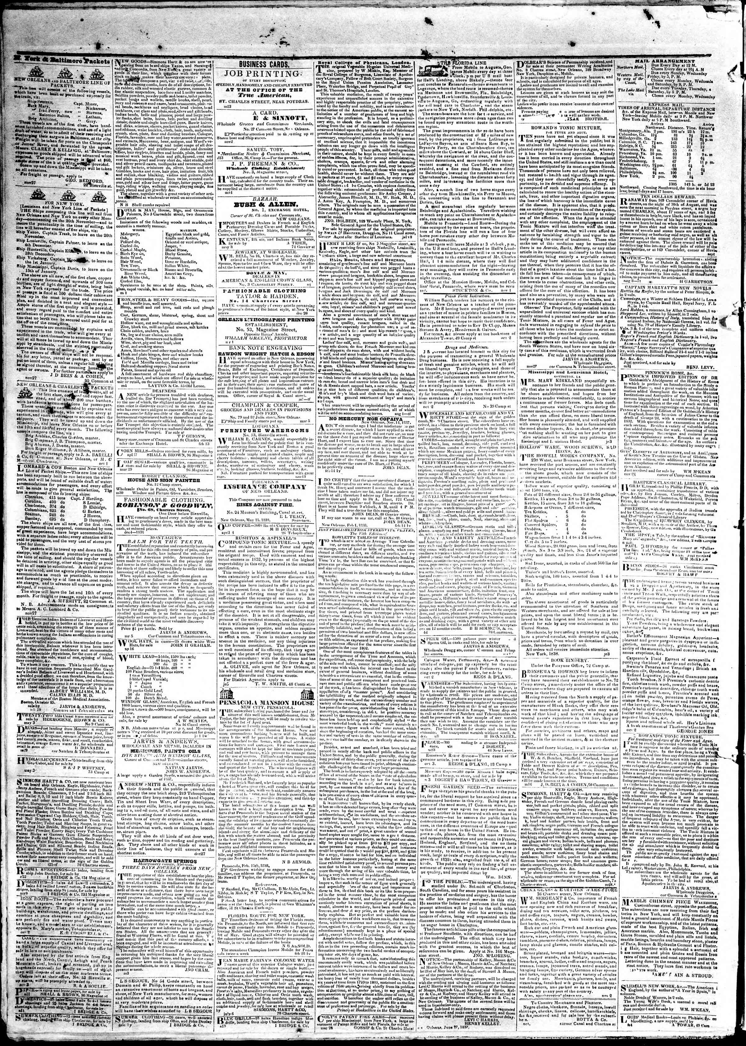 Newspaper of True American dated May 20, 1839 Page 4