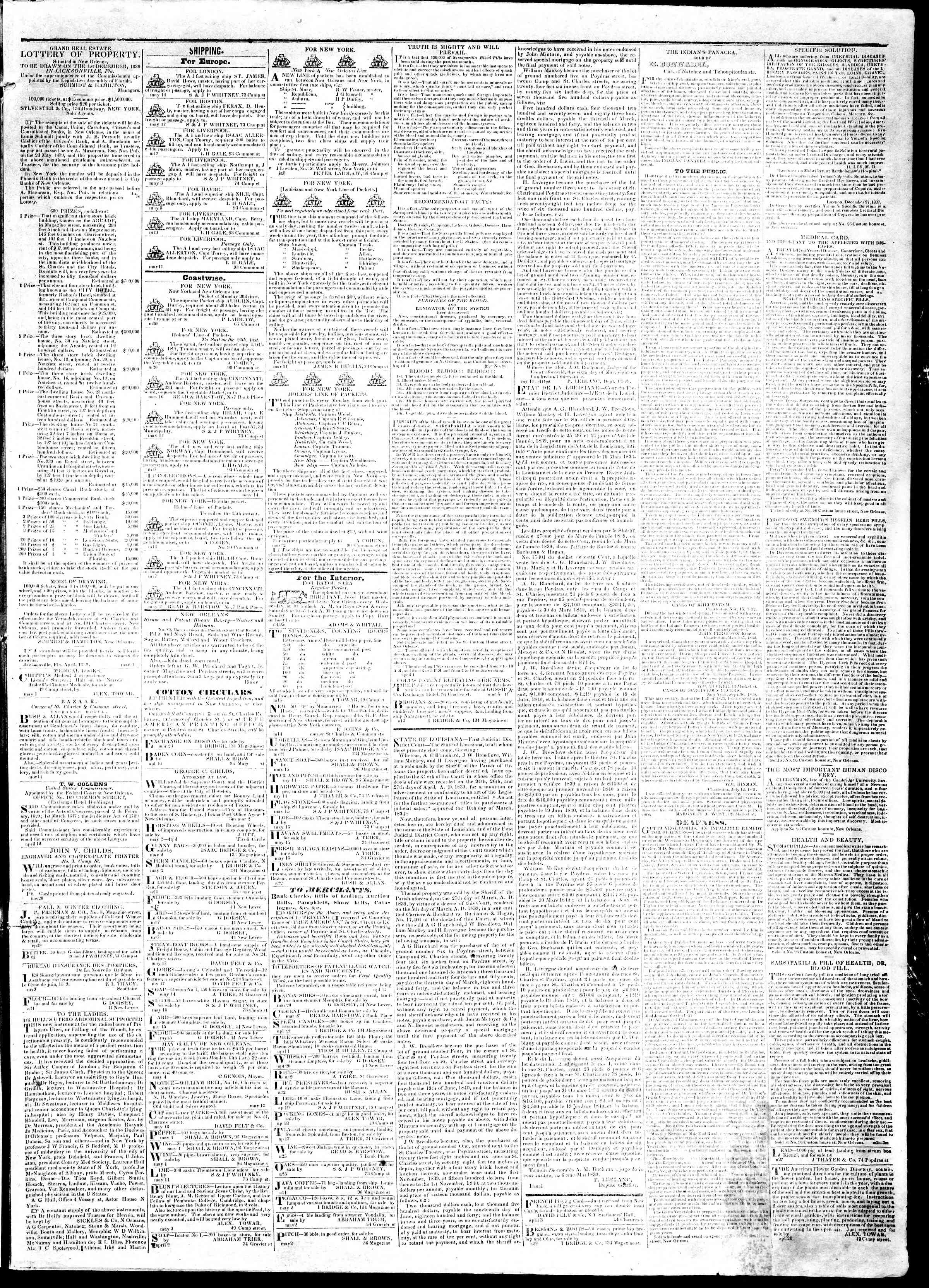 Newspaper of True American dated May 21, 1839 Page 3
